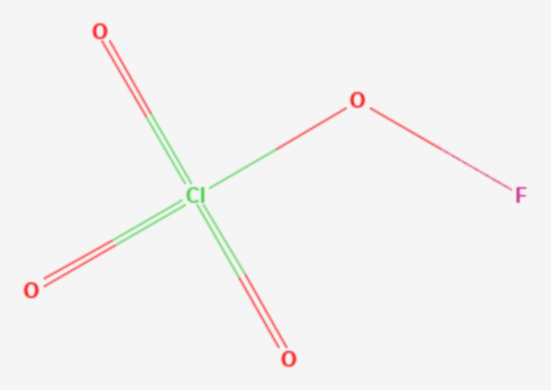 Fluorperchlorat (Strukturformel)
