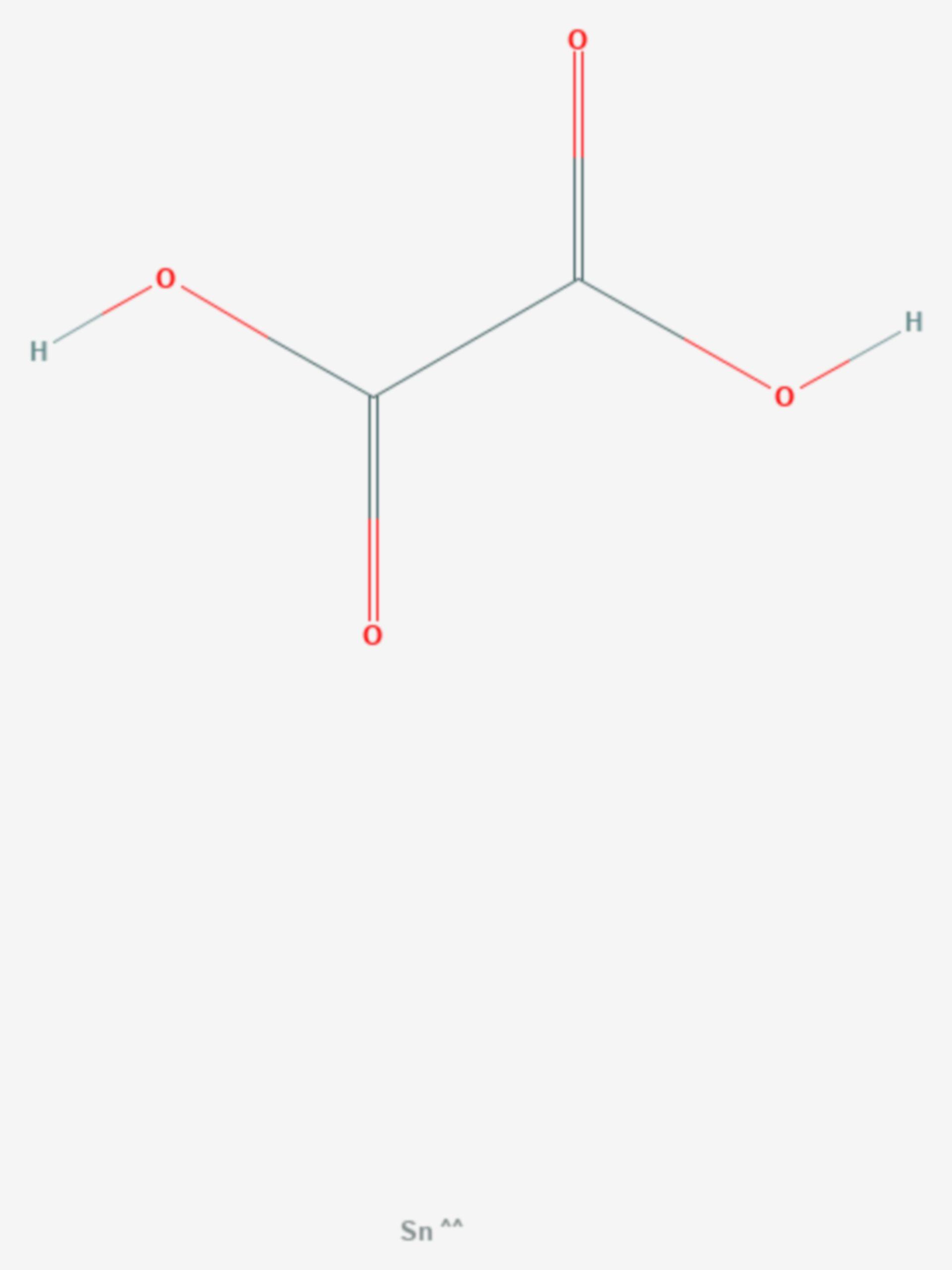 Zinn(II)-oxalat (Strukturformel)