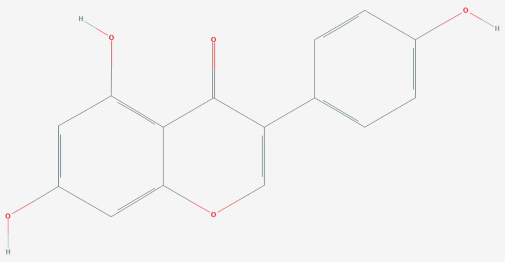 Genistein (Strukturformel)