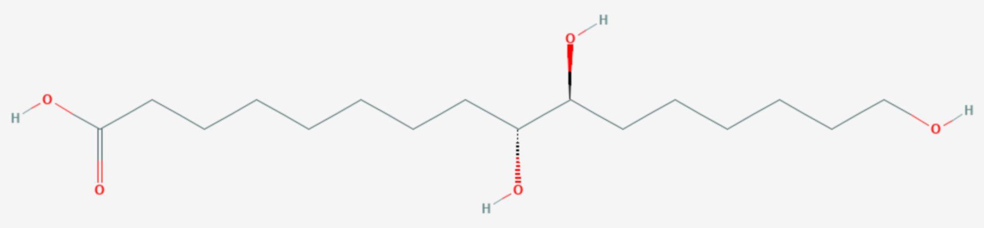 Aleuritinsäure (Strukturformel)