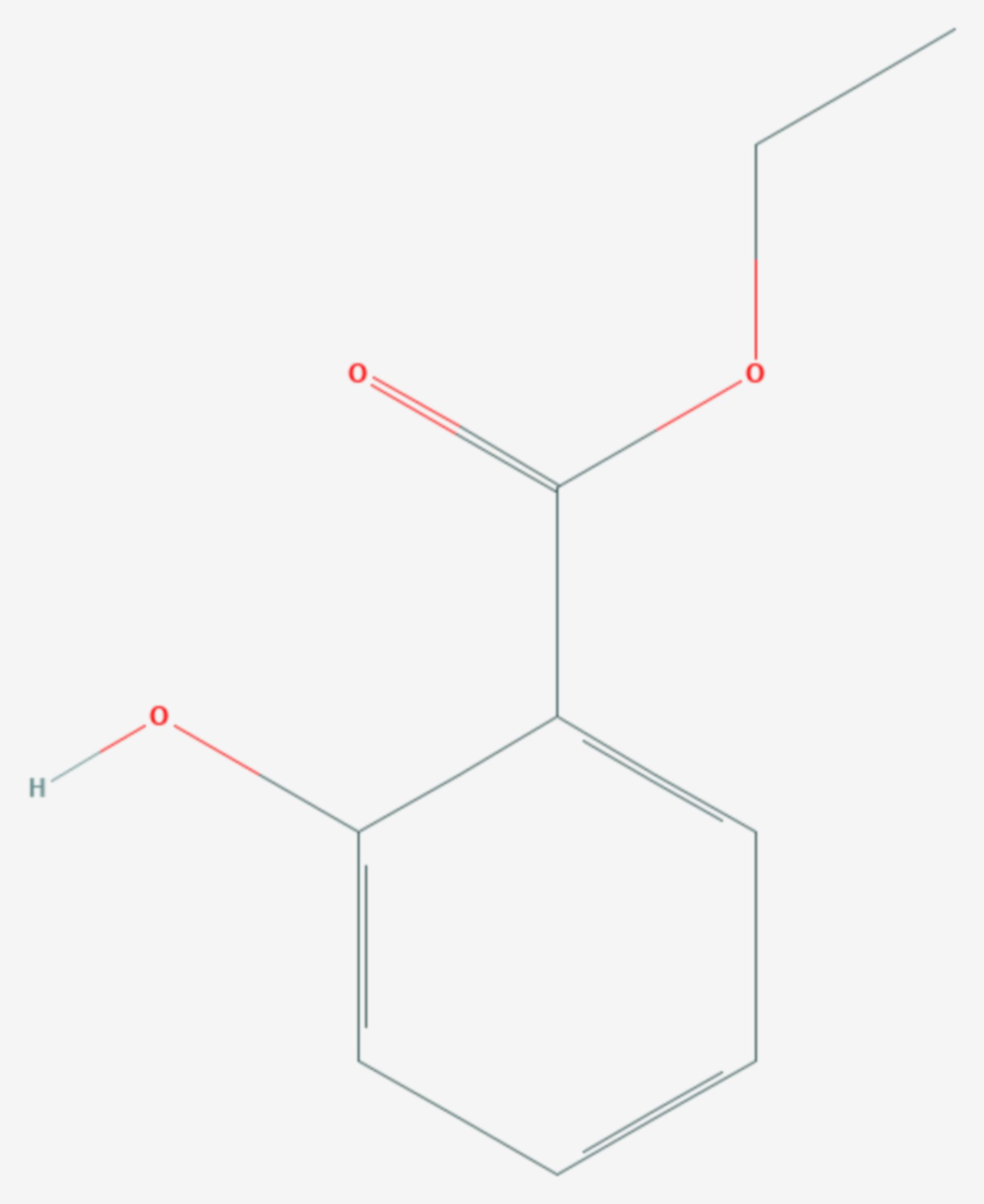 Salicylsäureethylester (Strukturformel)