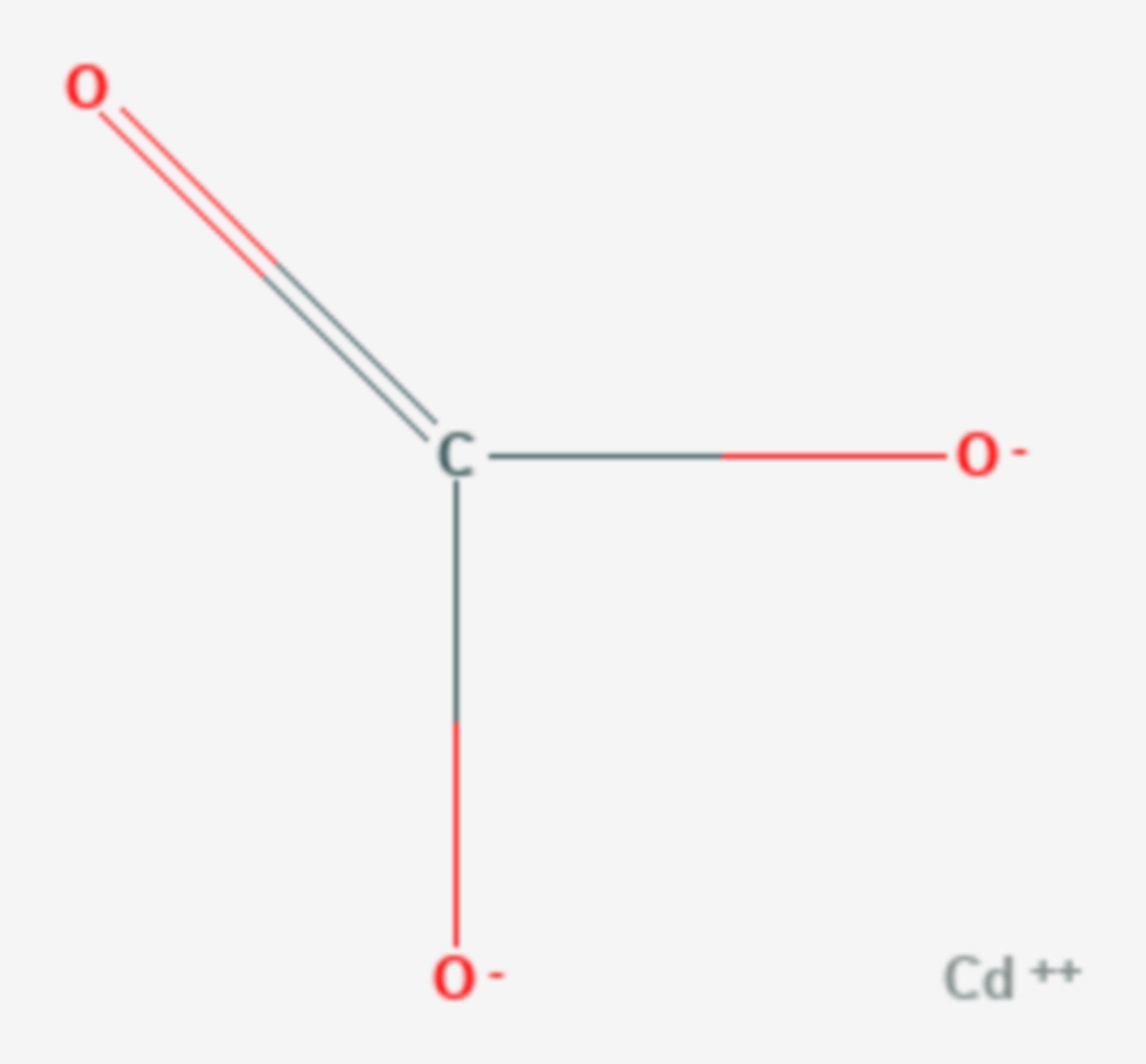 Cadmiumcarbonat (Strukturformel)