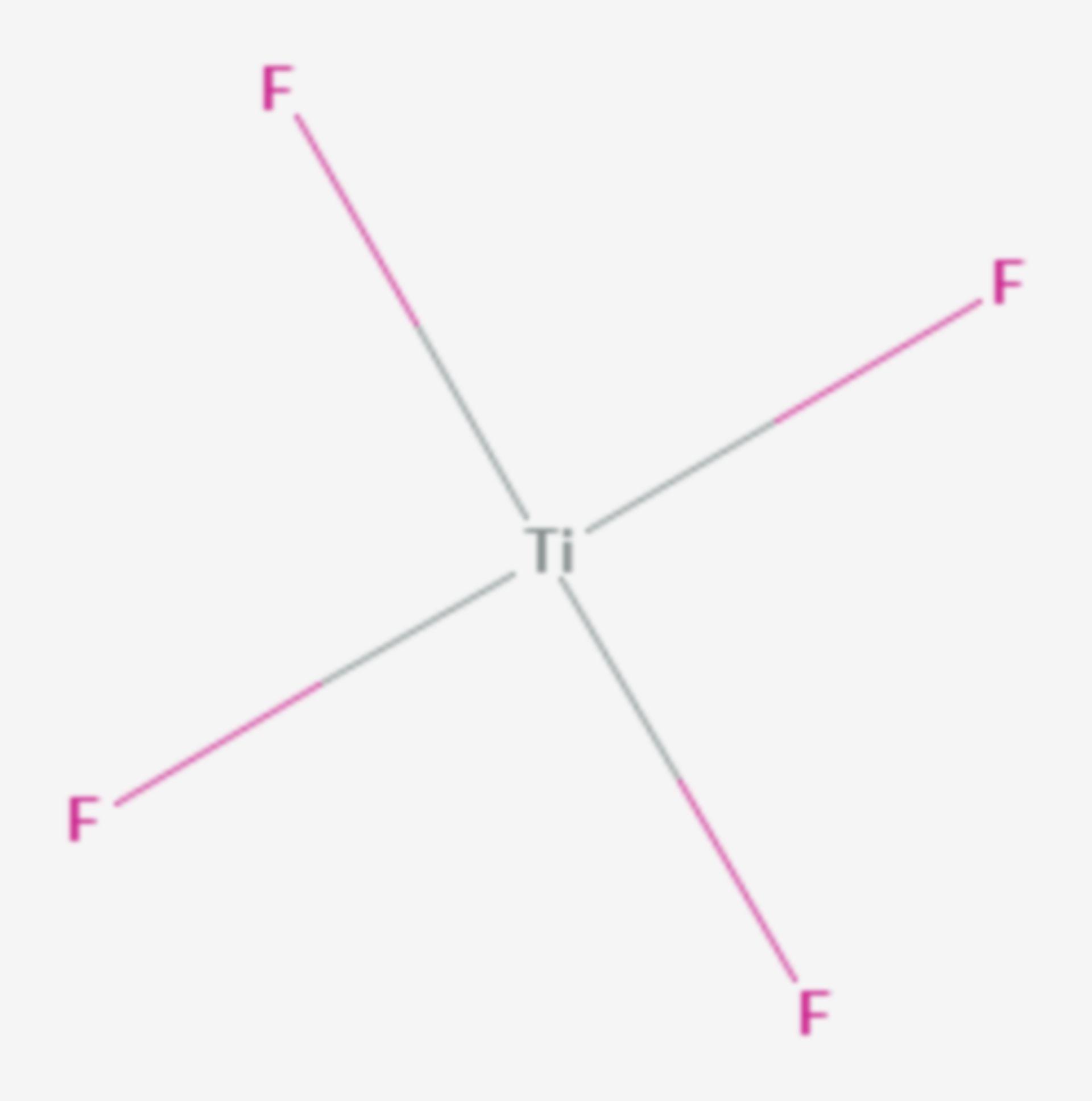 Titan(IV)-fluorid (Strukturformel)