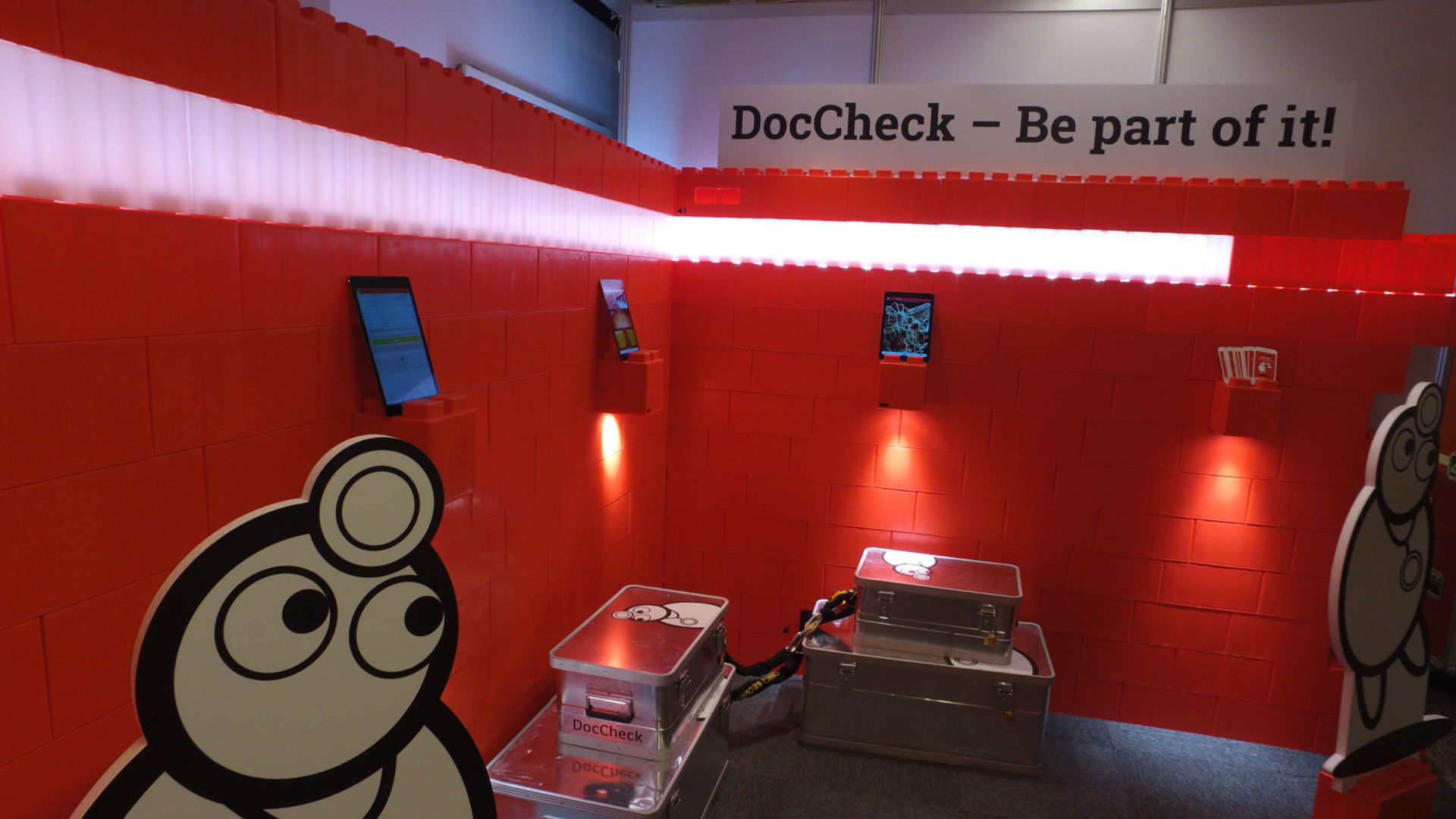 The DocCheck booth: Gallery 613 (first level)