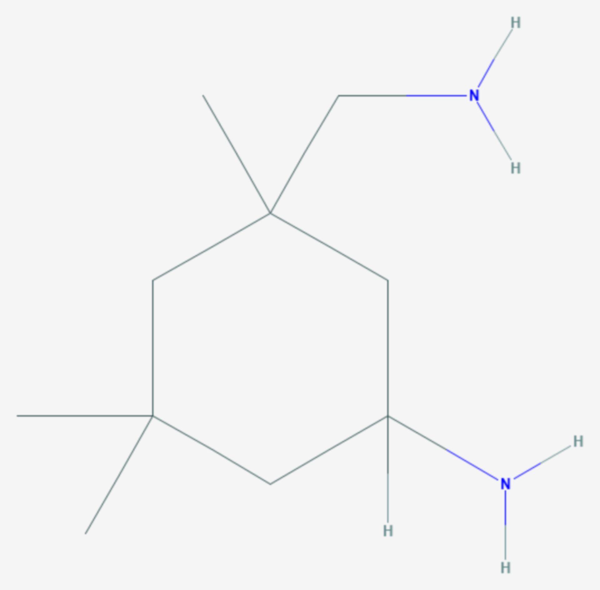 Isophorondiamin (Strukturformel)