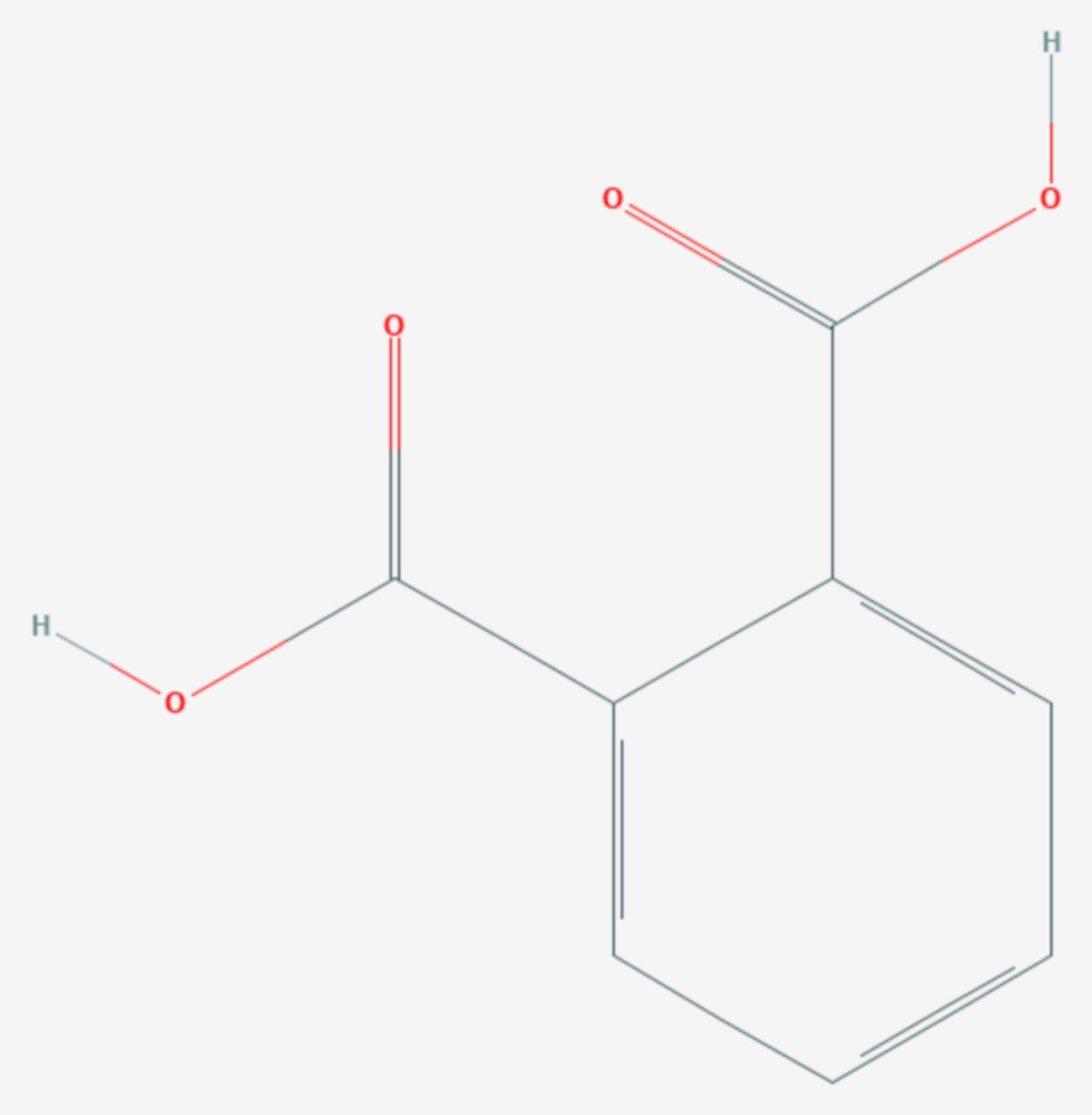 Phthalsäure (Strukturformel)