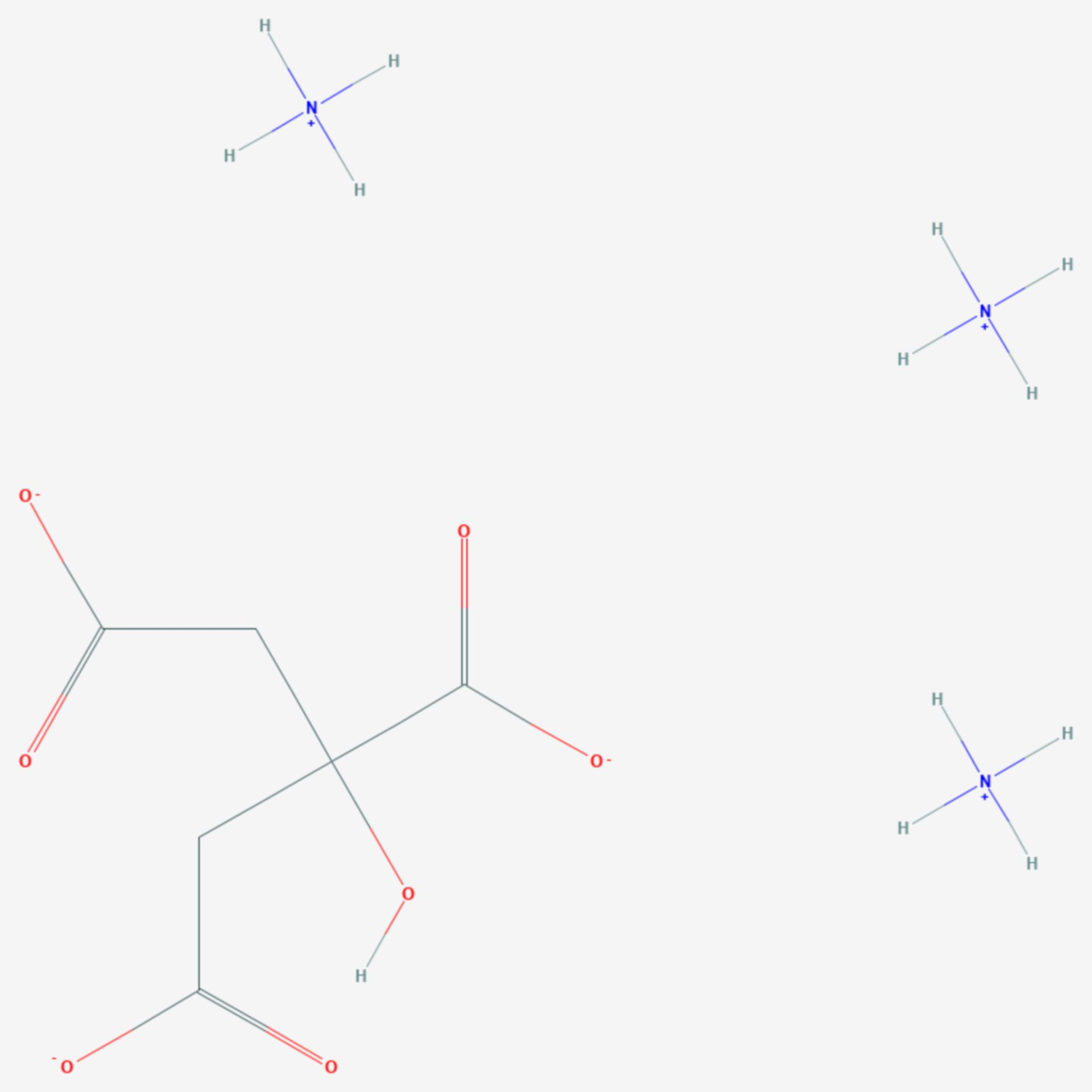 Ammoniumcitrat (Strukturformel)