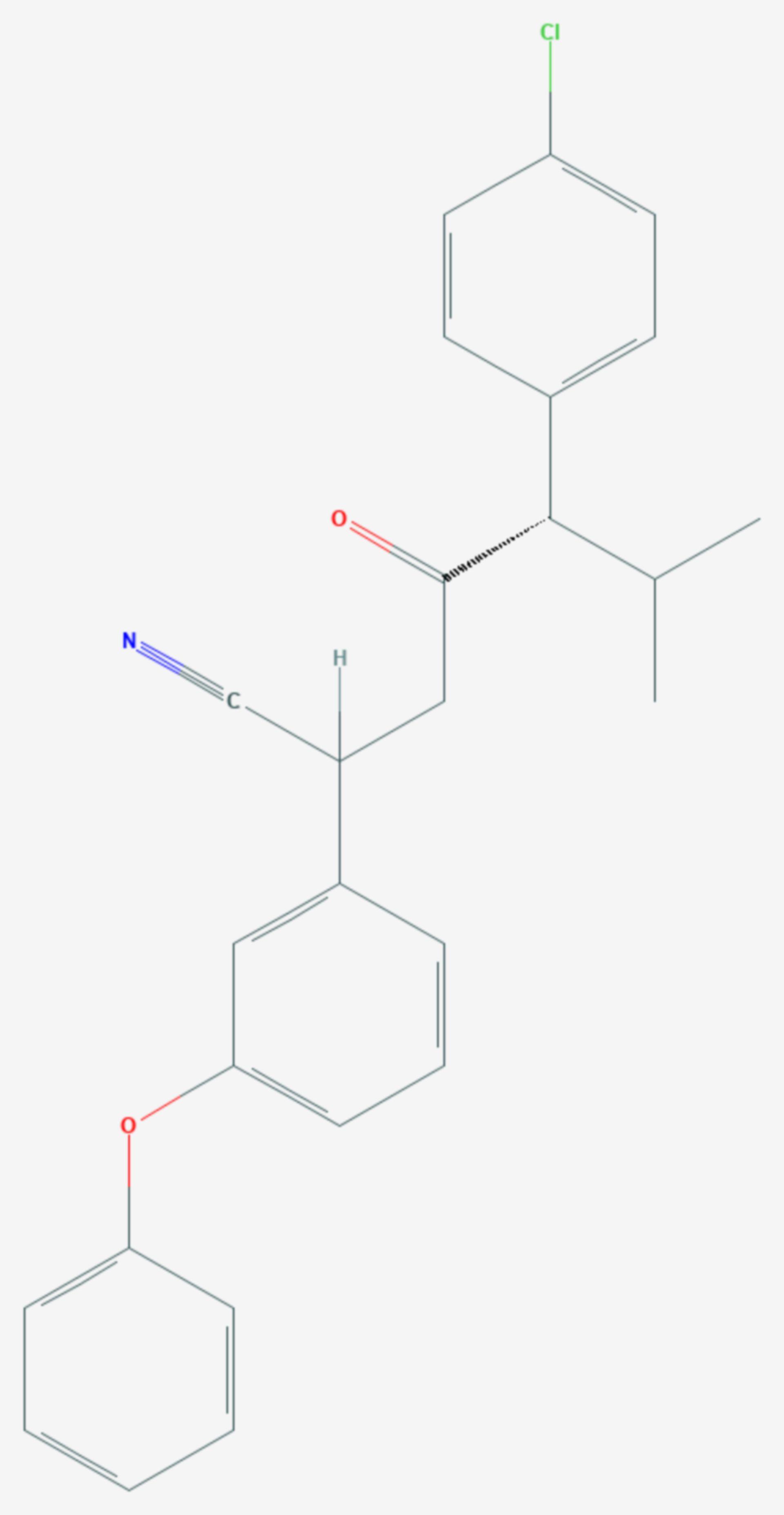 Esfenvalerat (Strukturformel)