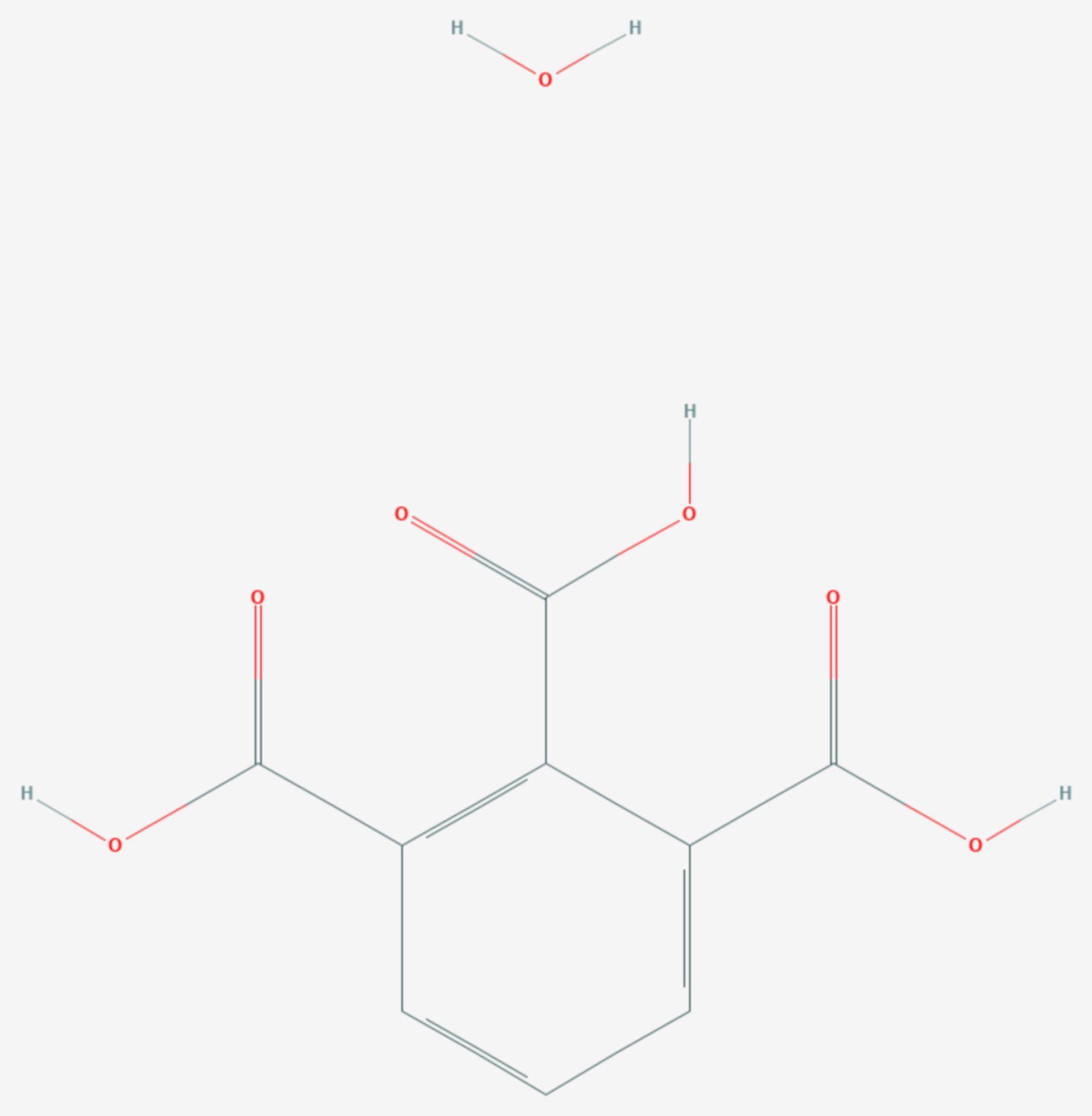 Hemimellitsäure (Strukturformel)