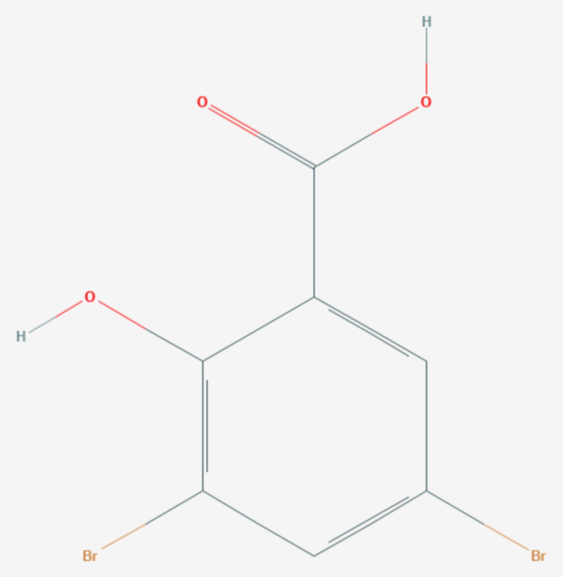 3,5-Dibromsalicylsäure (Strukturformel)