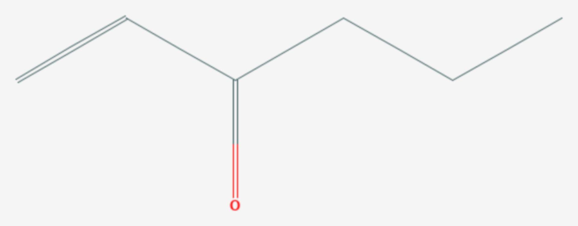 1-Hexen-3-on (Strukturformel)