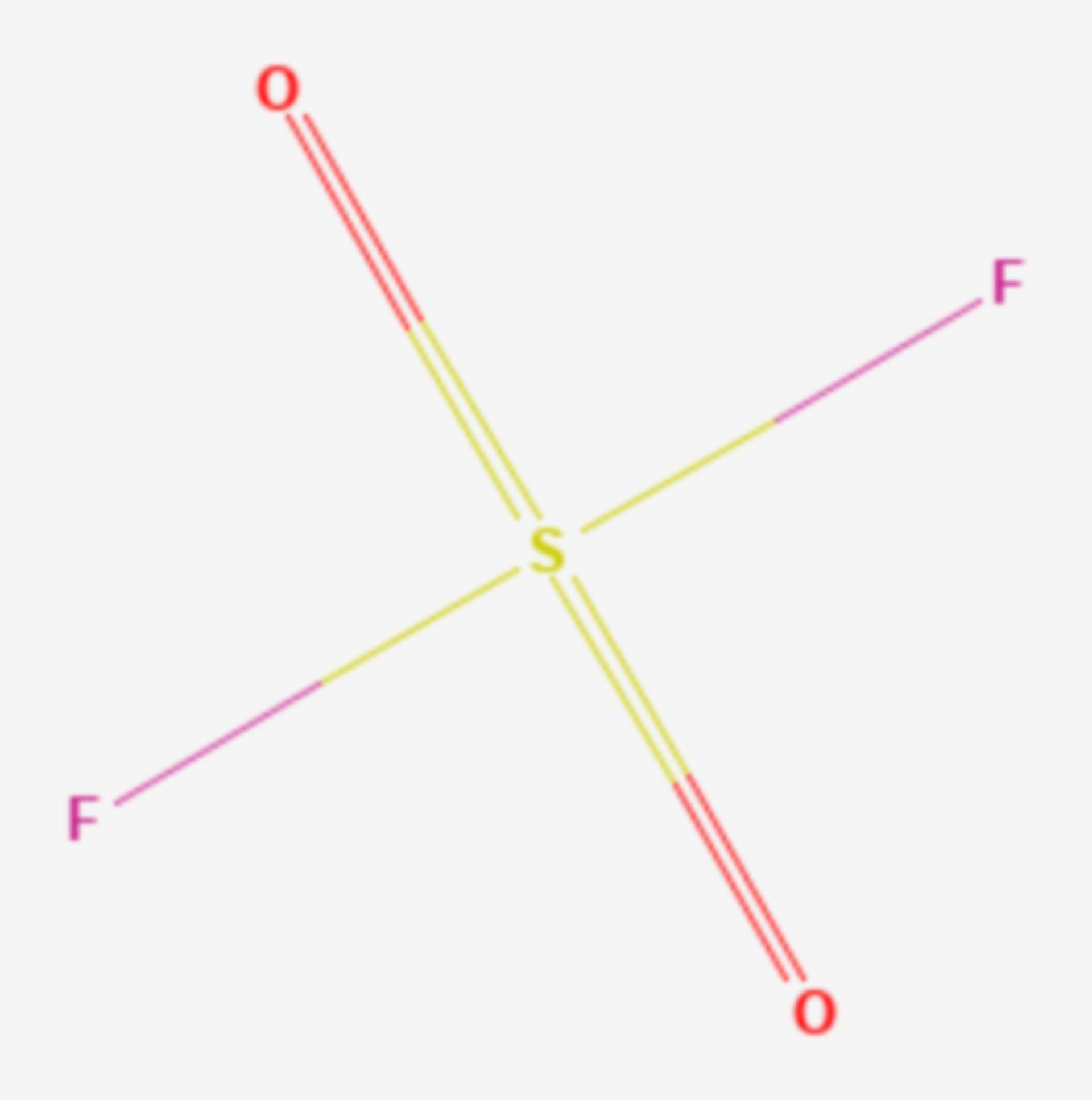 Sulfurylfluorid (Strukturformel)