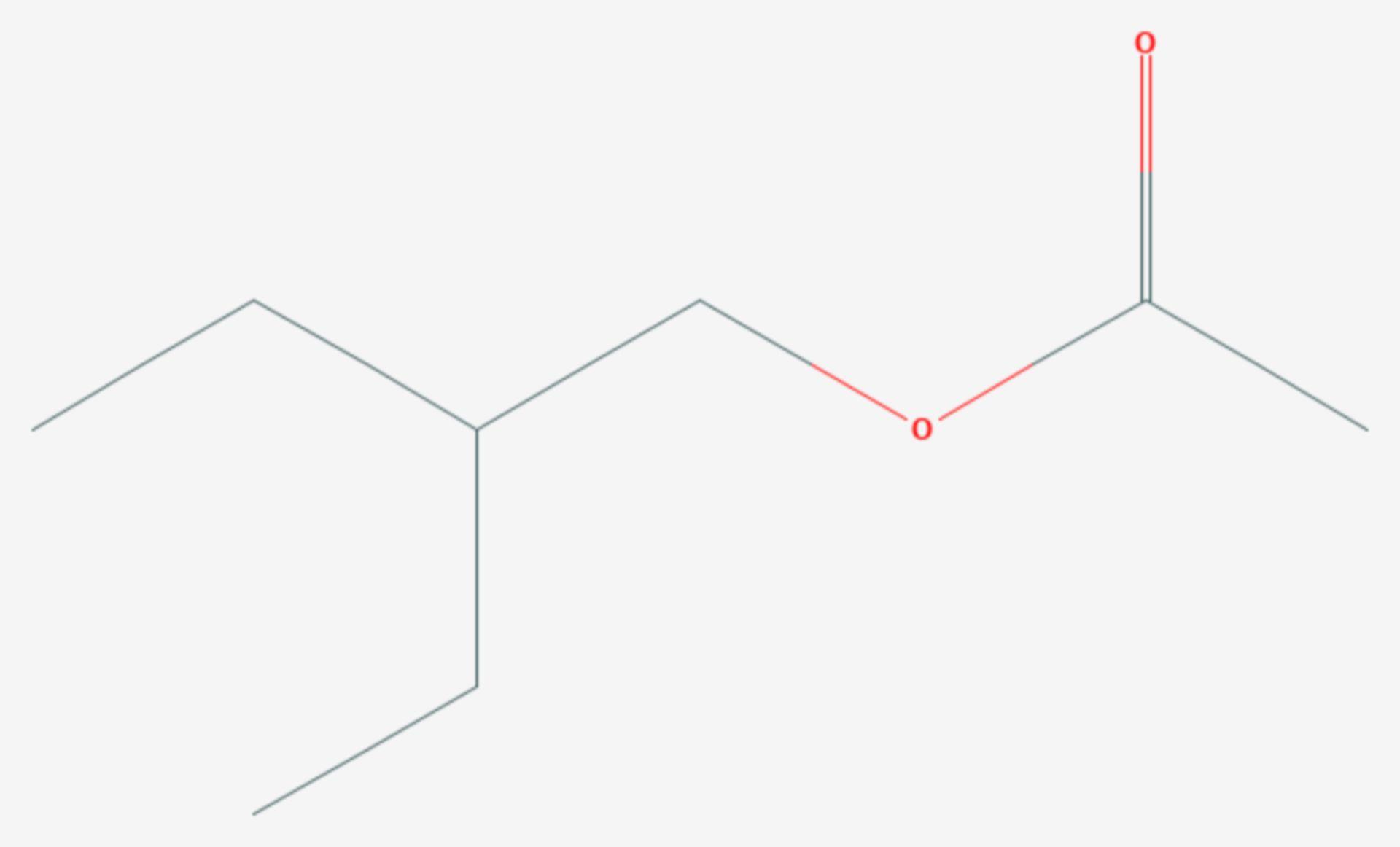 Essigsäure-2-ethylbutylester (Strukturformel)