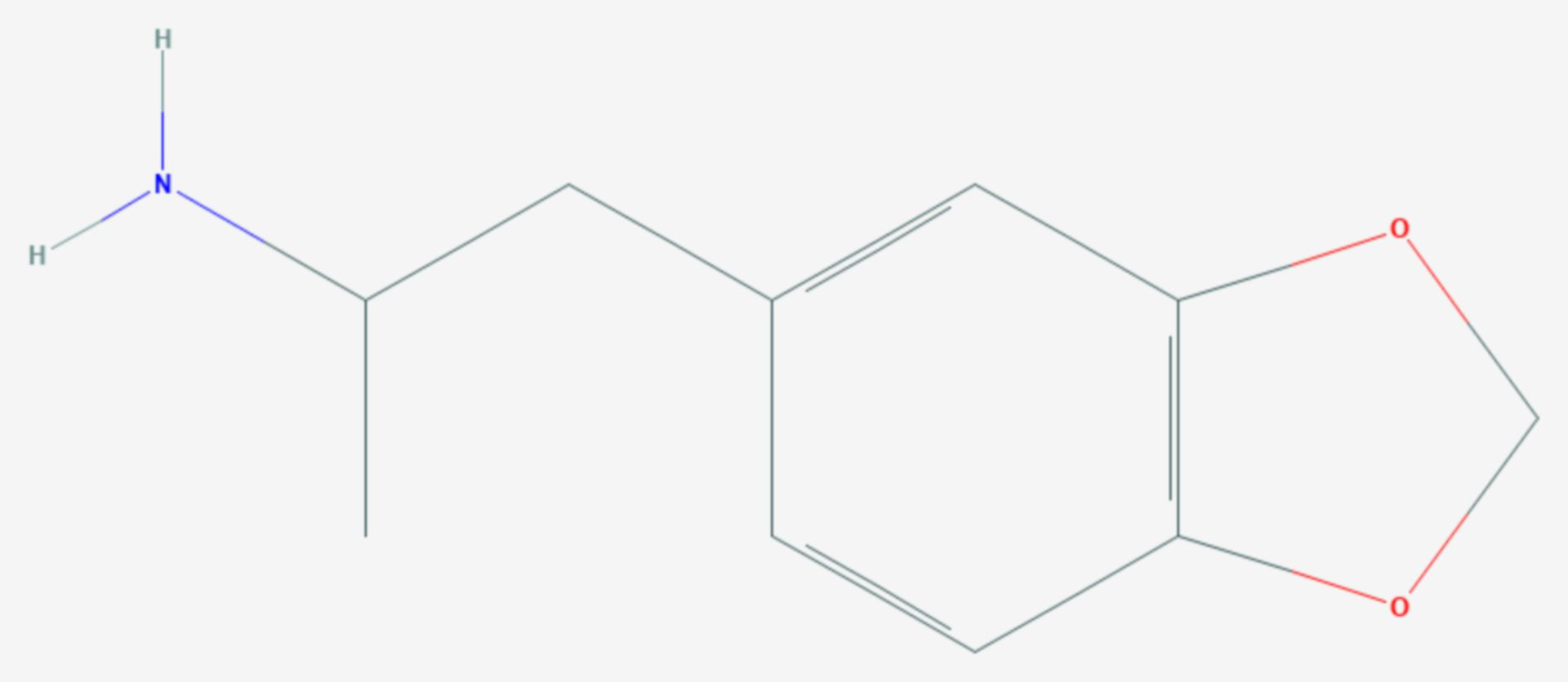 3,4-Methylendioxyamphetamin (Strukturformel)