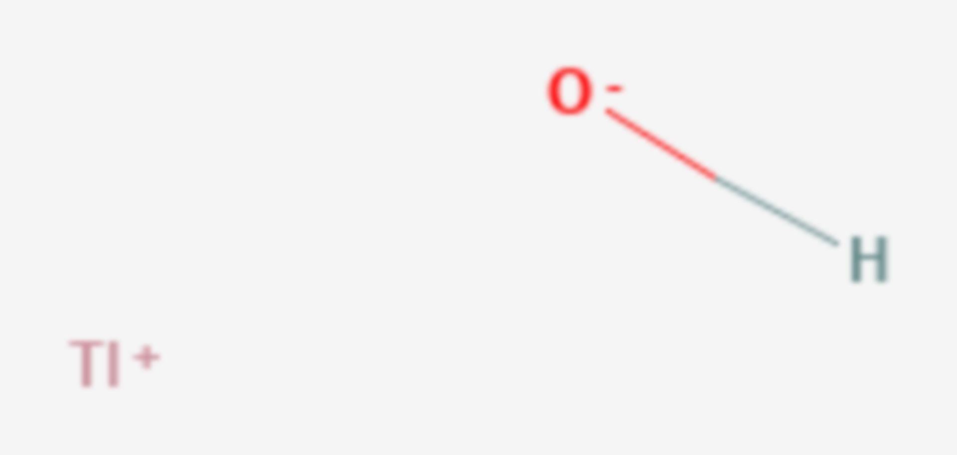 Thallium(I)-hydroxid (Strukturformel)