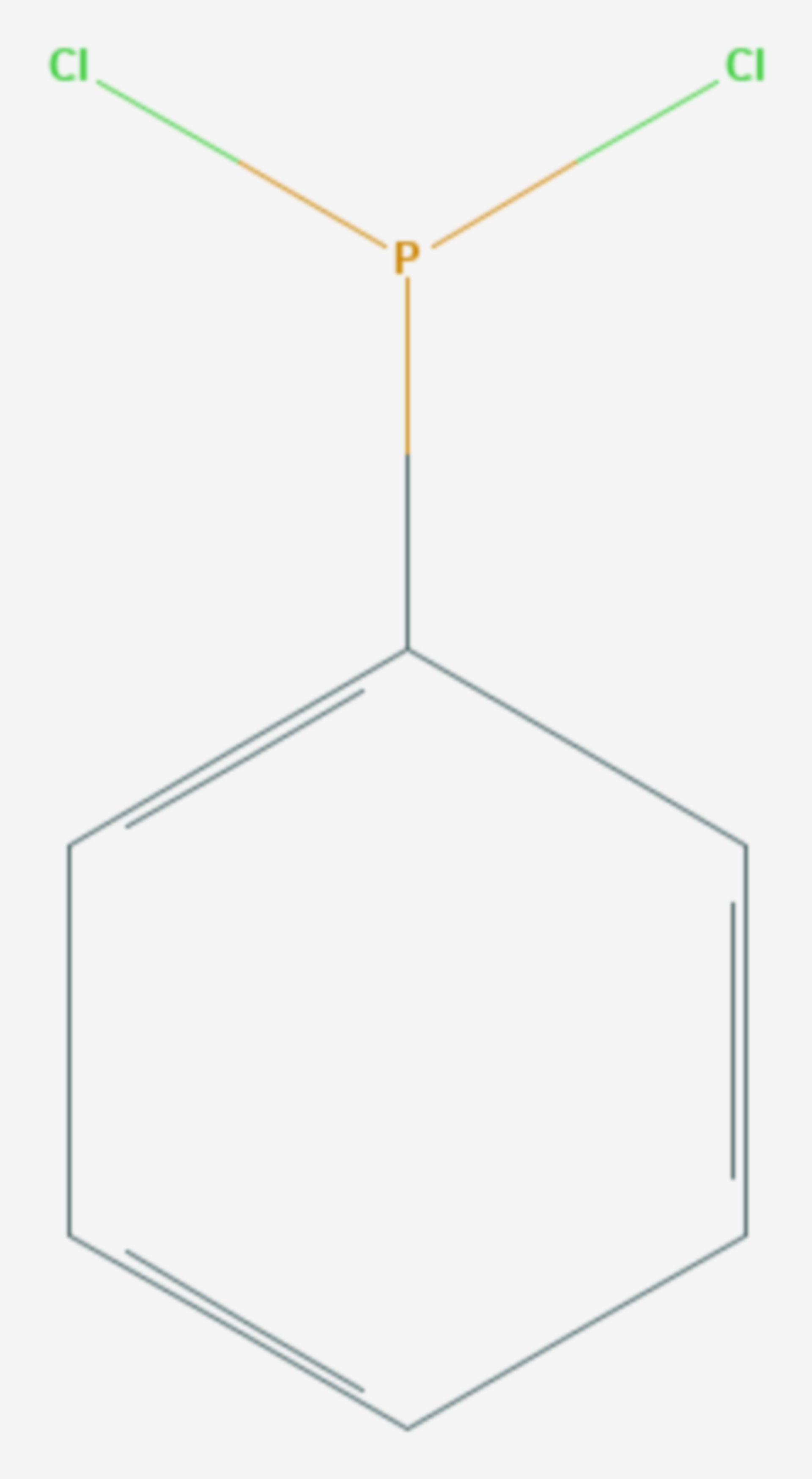 Dichlorphenylphosphan (Strukturformel)
