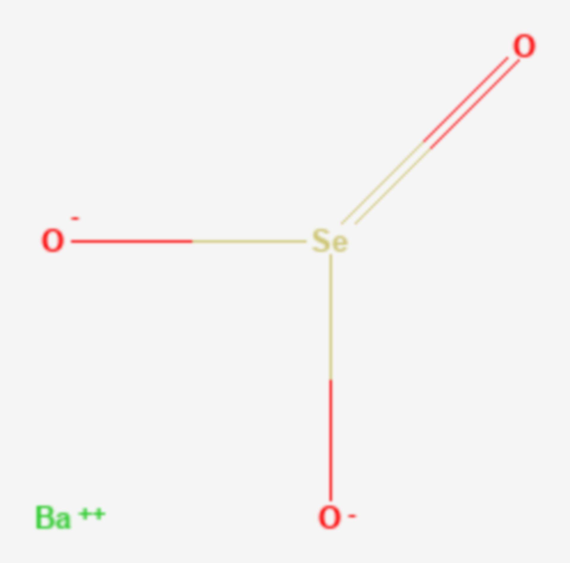 Bariumselenit (Strukturformel)