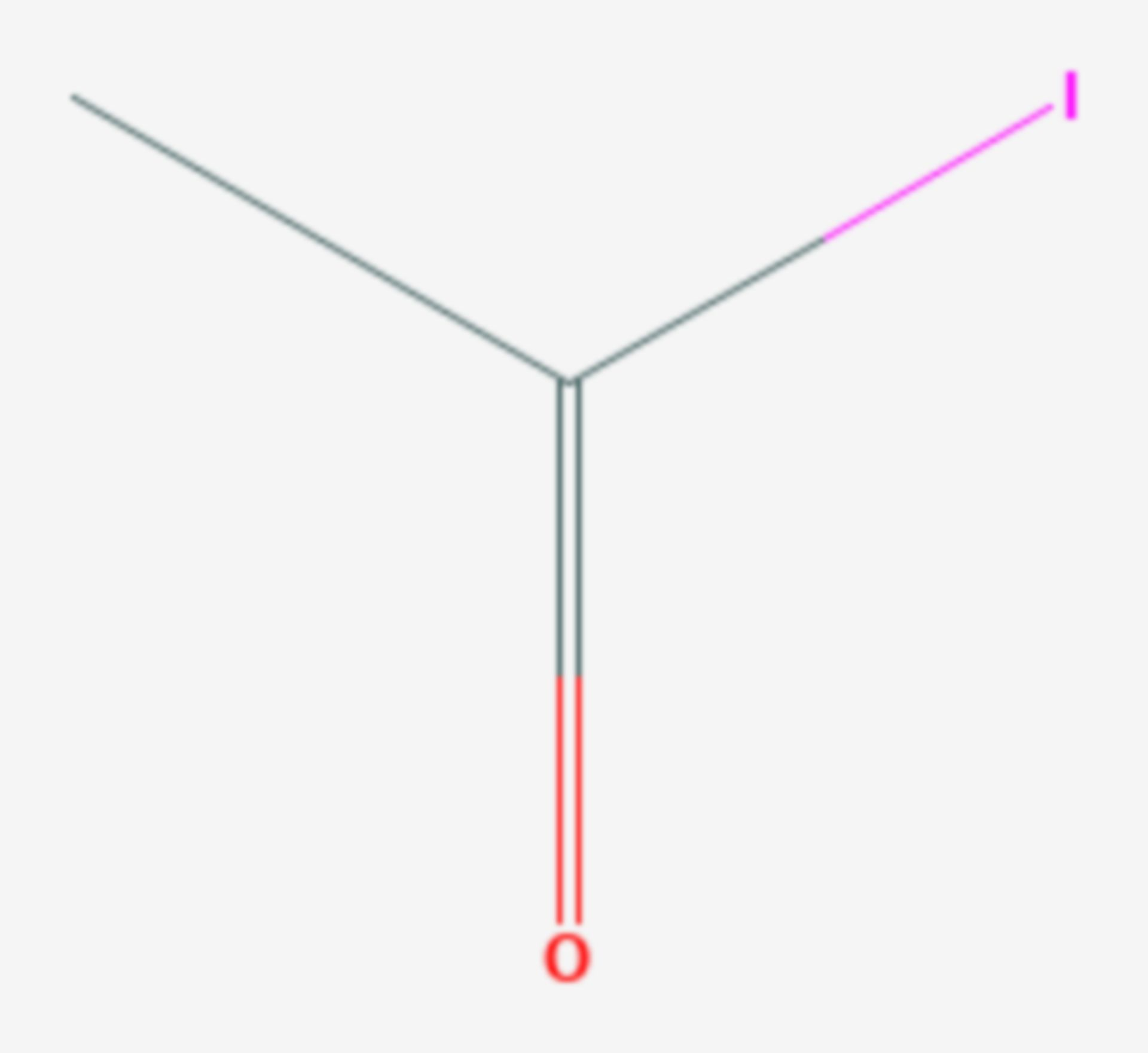 Acetyliodid (Strukturformel)