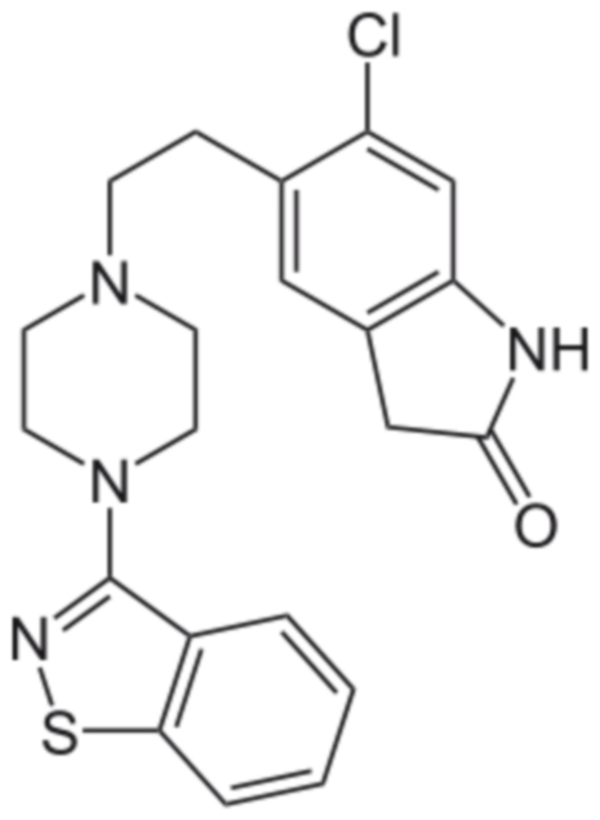Ziprasidone formula di struttura