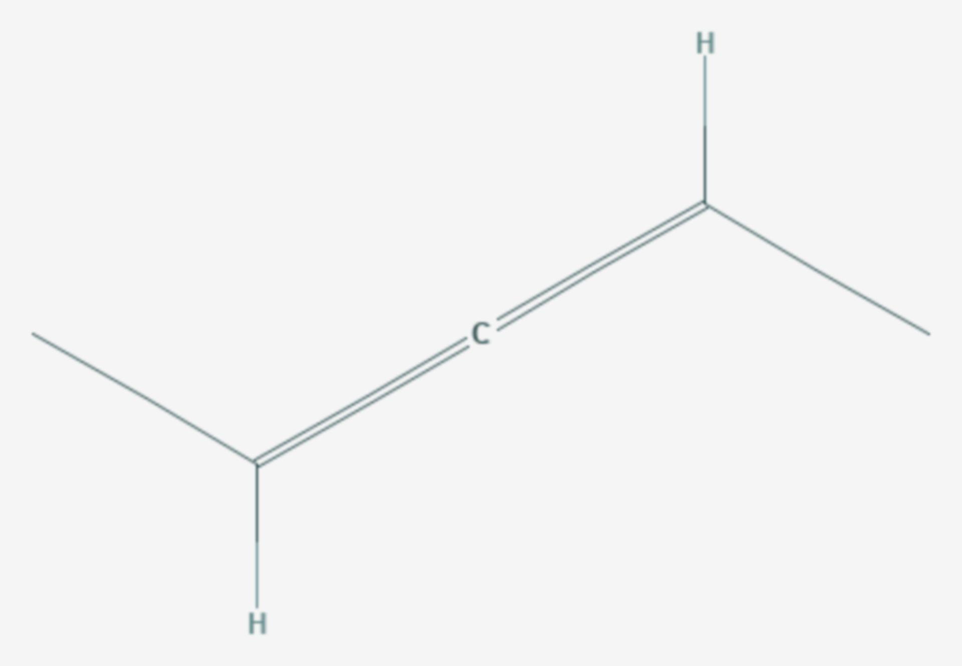 2,3-Pentadien (Strukturformel)
