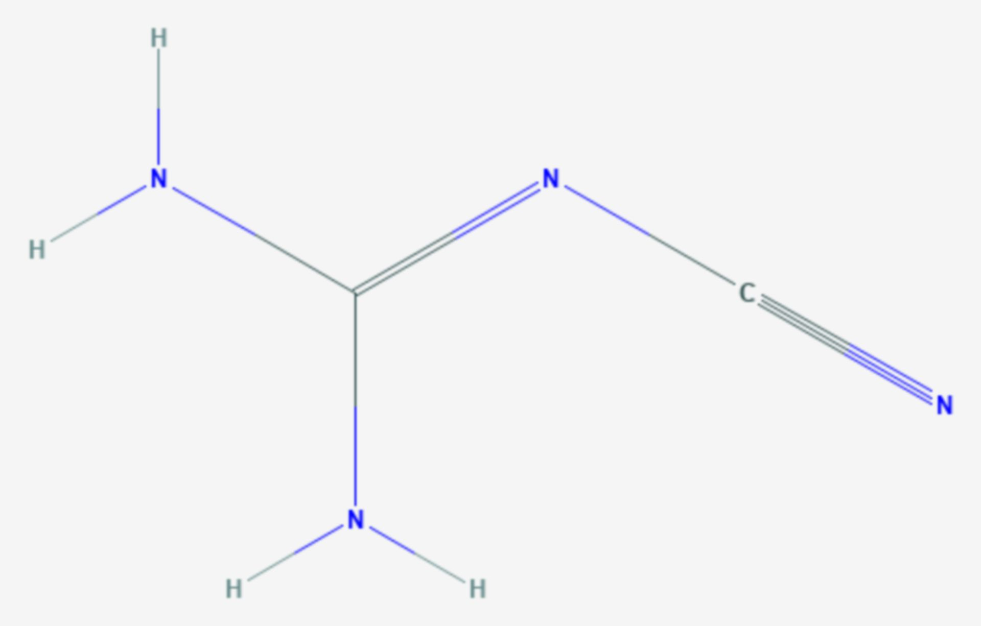 Dicyandiamid (Strukturformel)