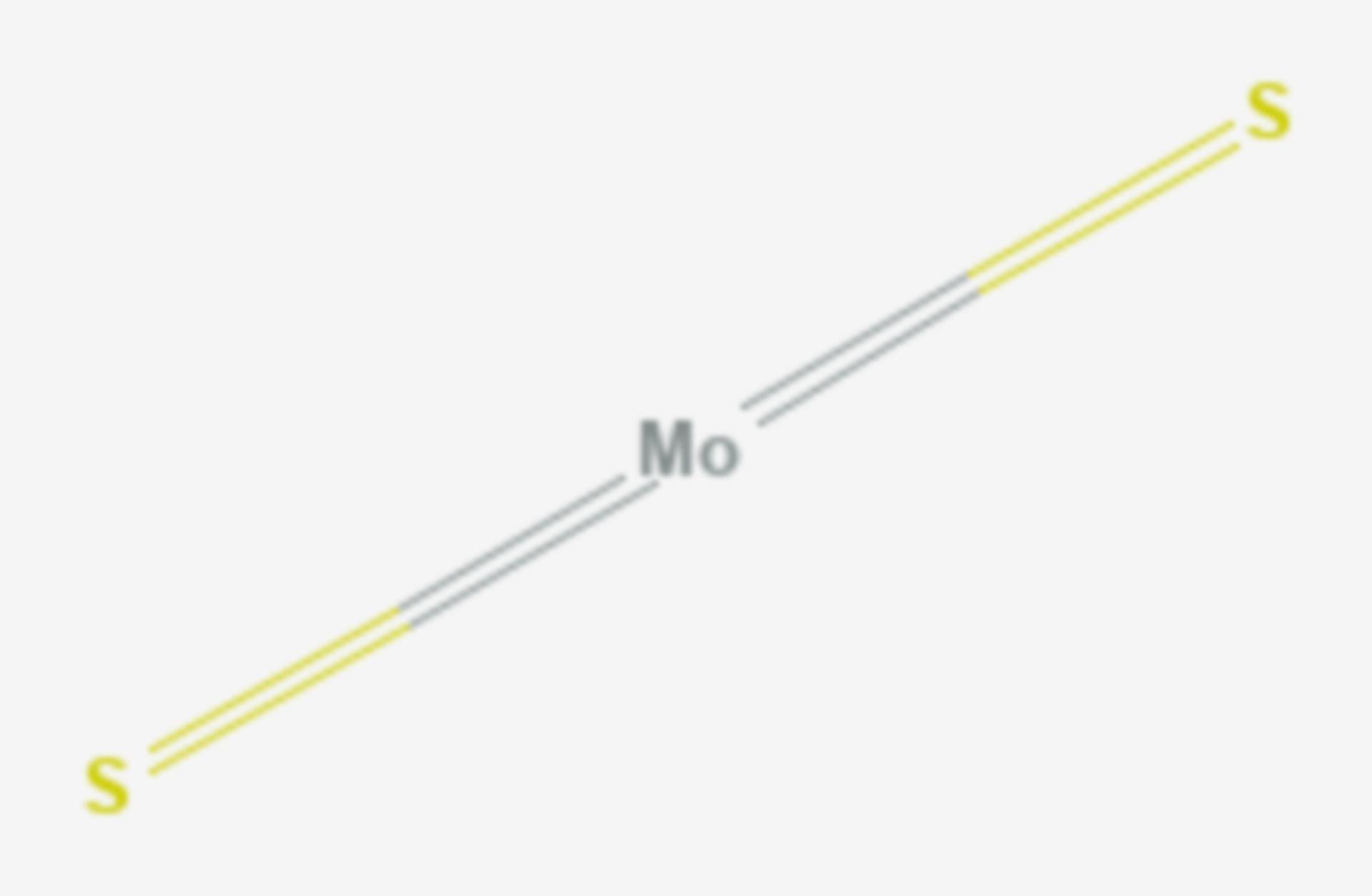 Molybdän(IV)-sulfid (Strukturformel)