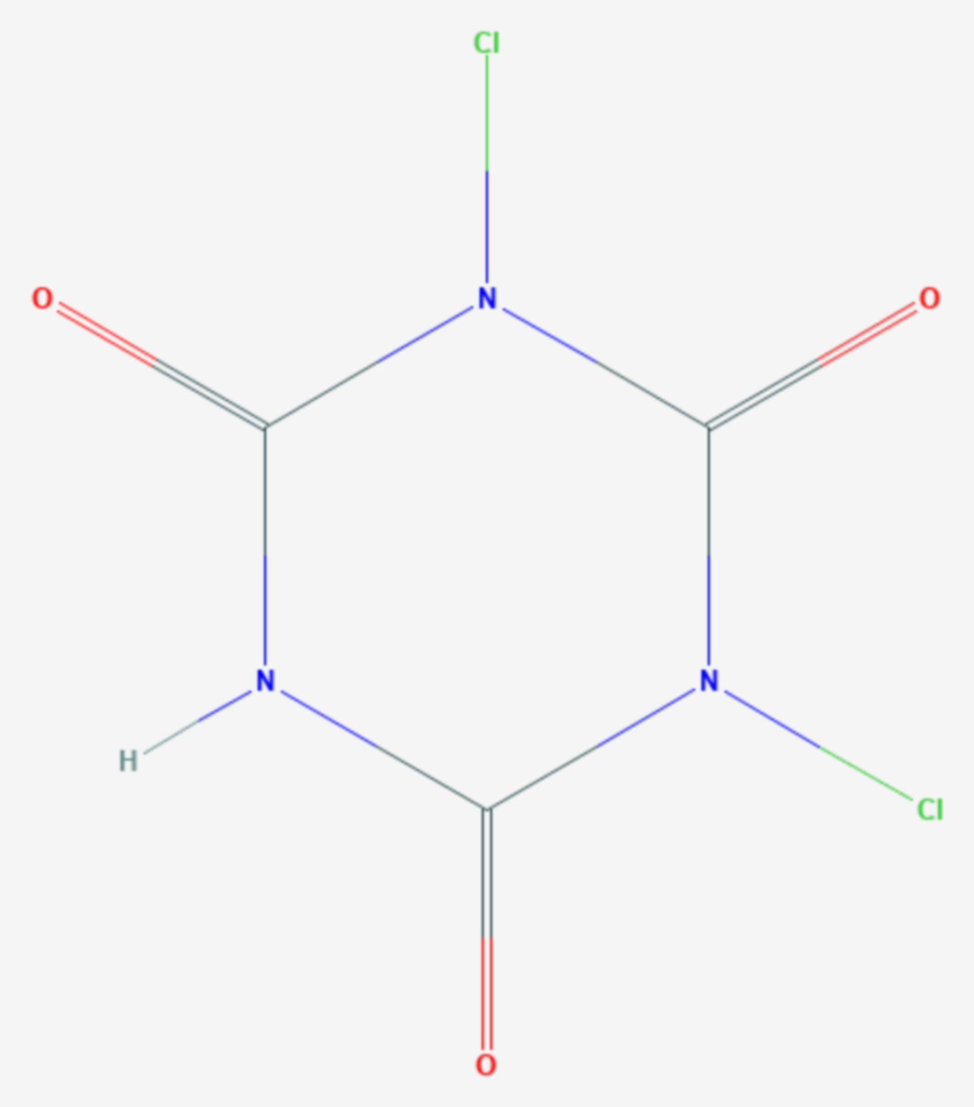 Dichlorisocyanursäure (Strukturformel)