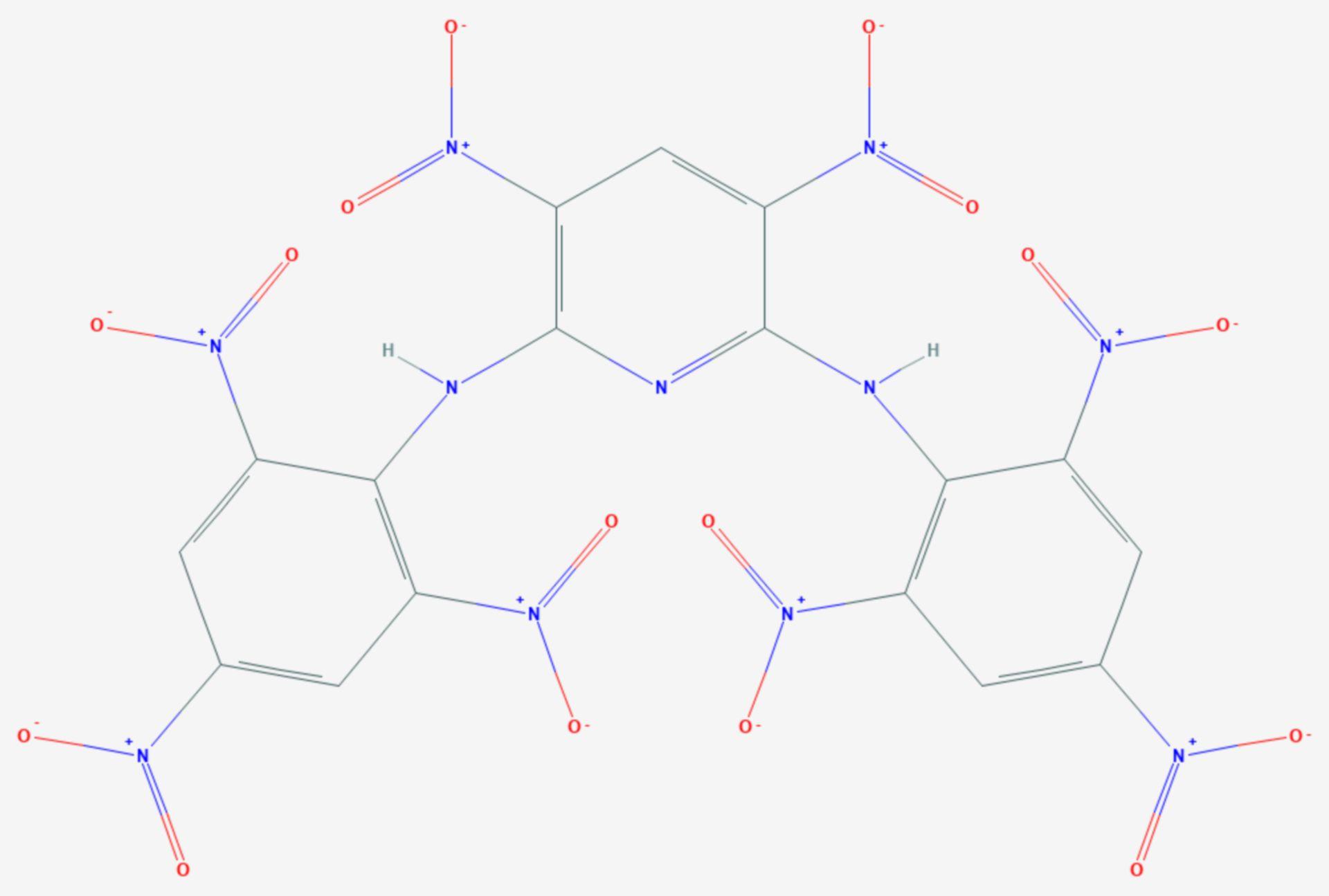 Pikrylaminodinitropyridin (Strukturformel)