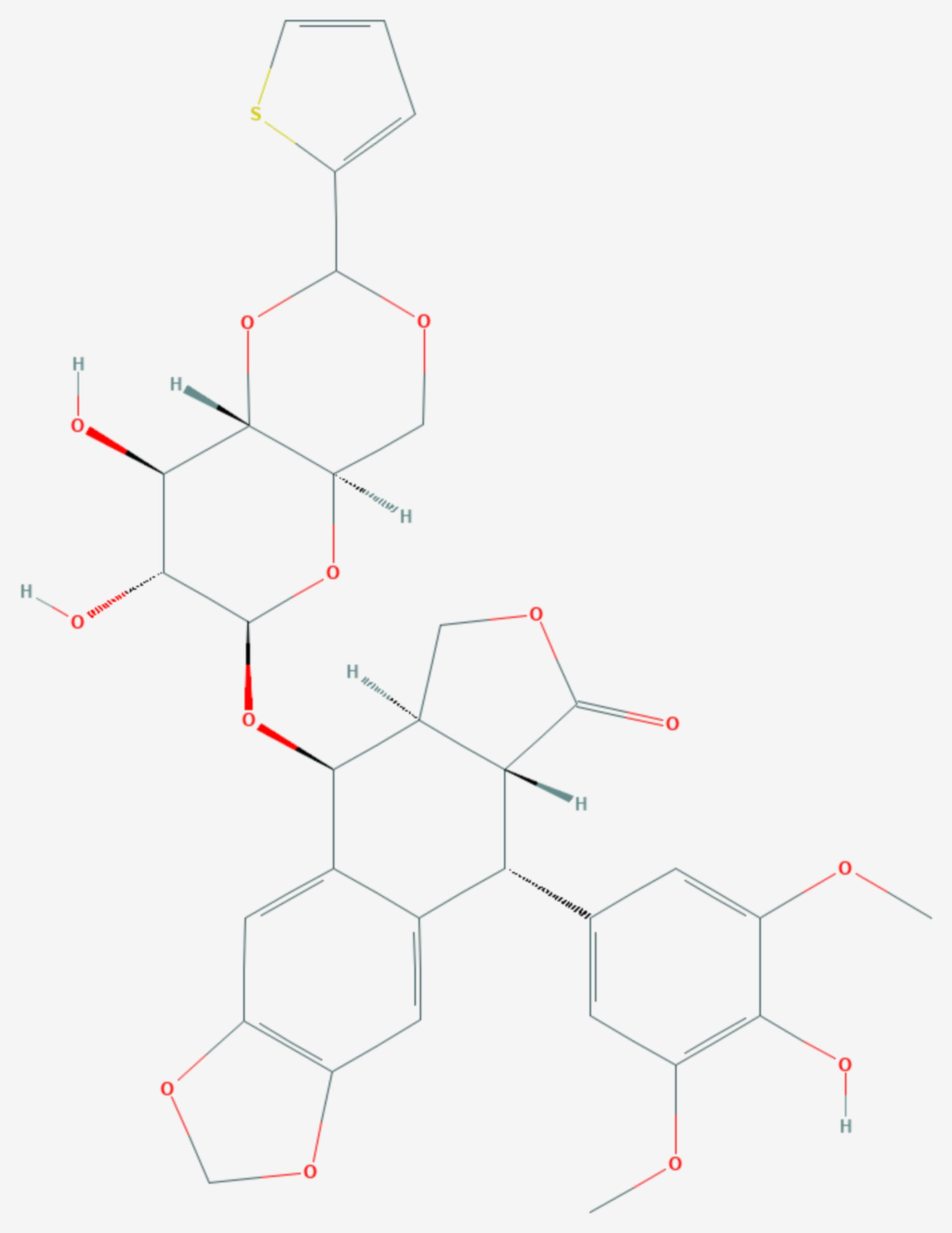 Teniposid (Strukturformel)
