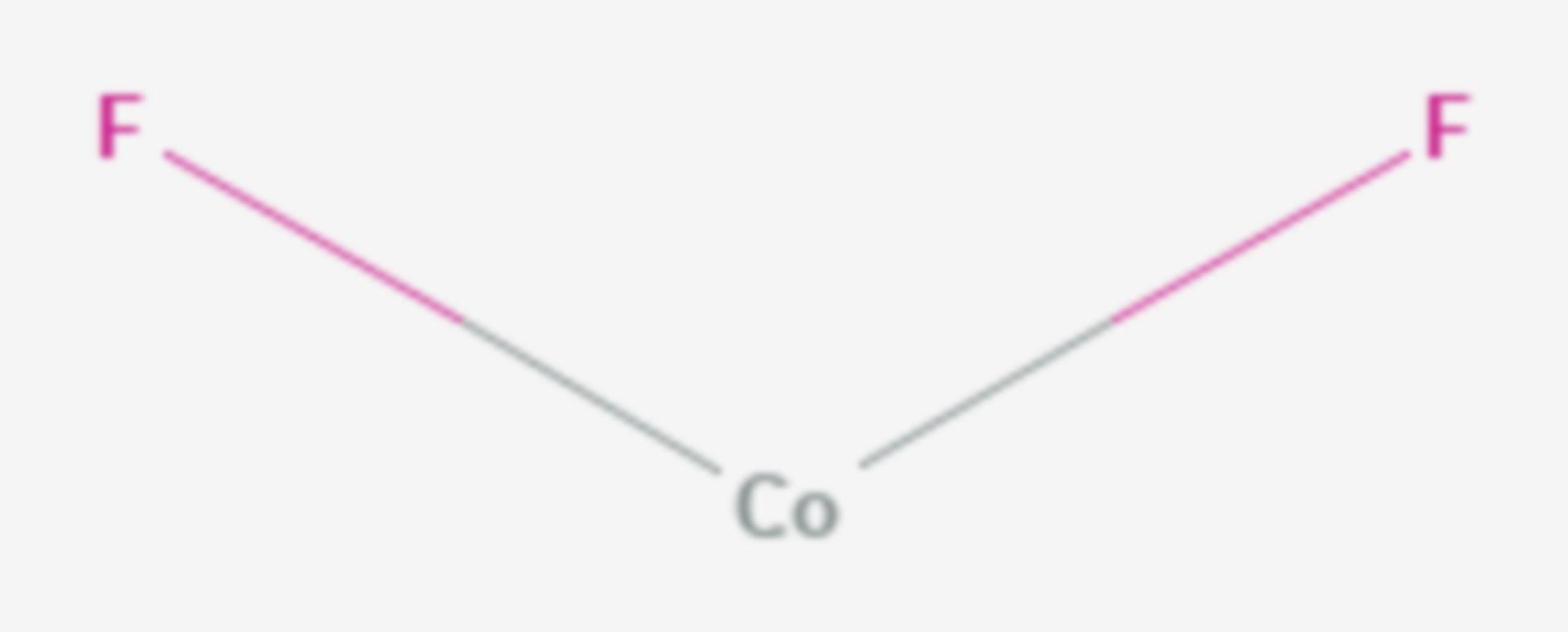 Cobalt(II)-fluorid (Strukturformel)