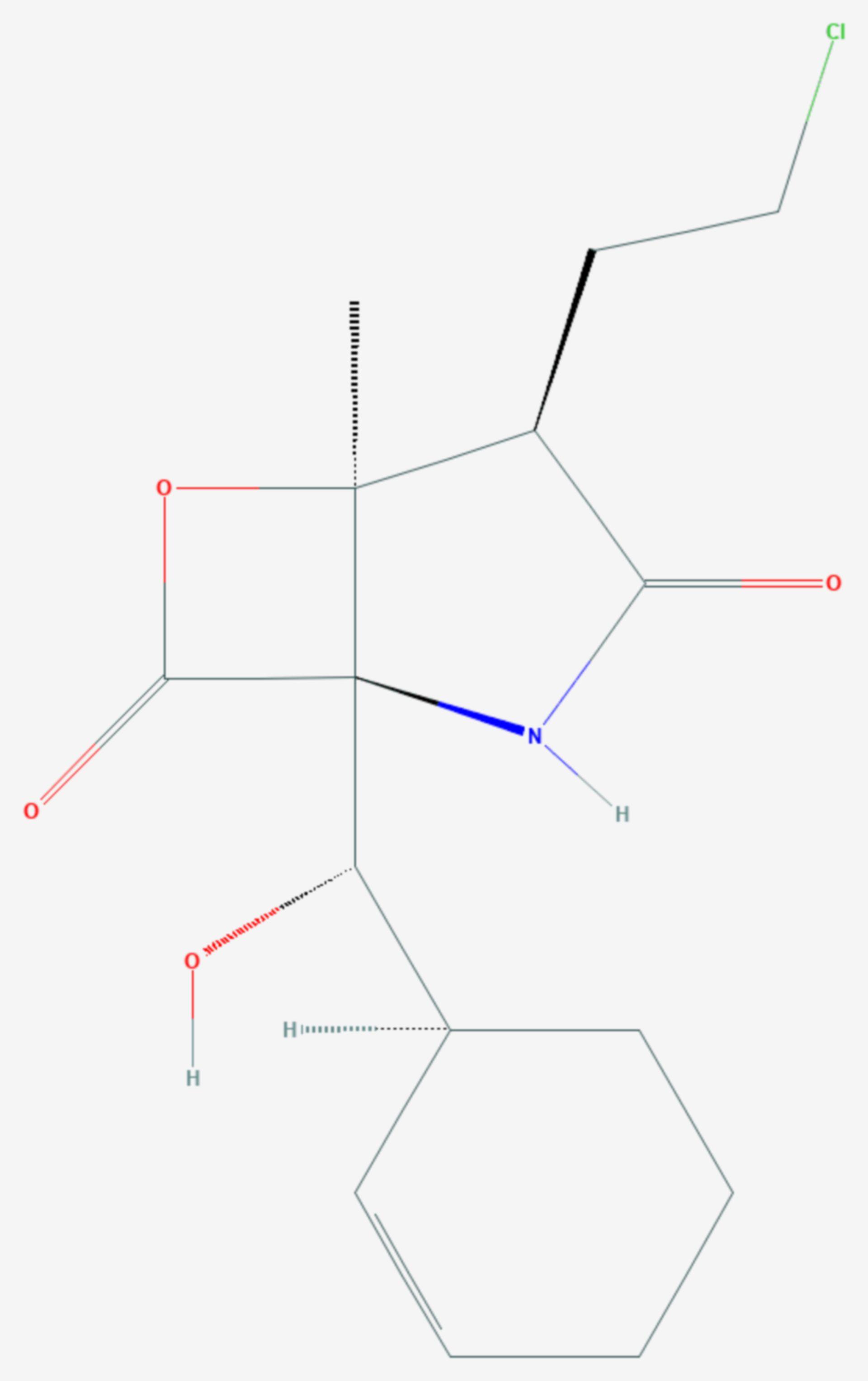 Salinosporamid A (Strukturformel)