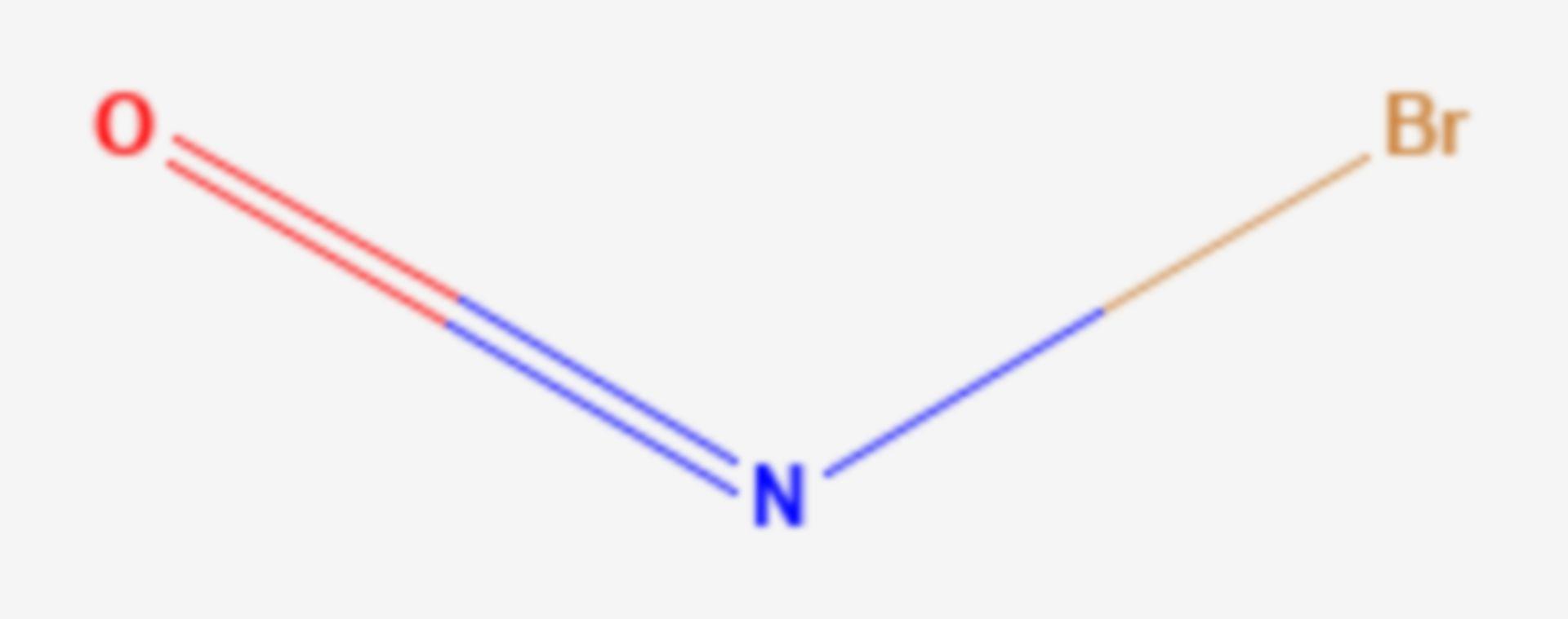 Nitrosylbromid (Strukturformel)