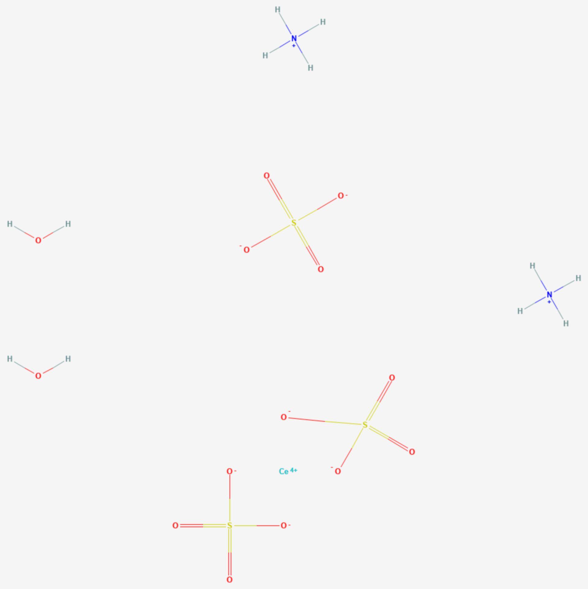 Ammoniumcer(IV)-sulfat (Strukturformel)