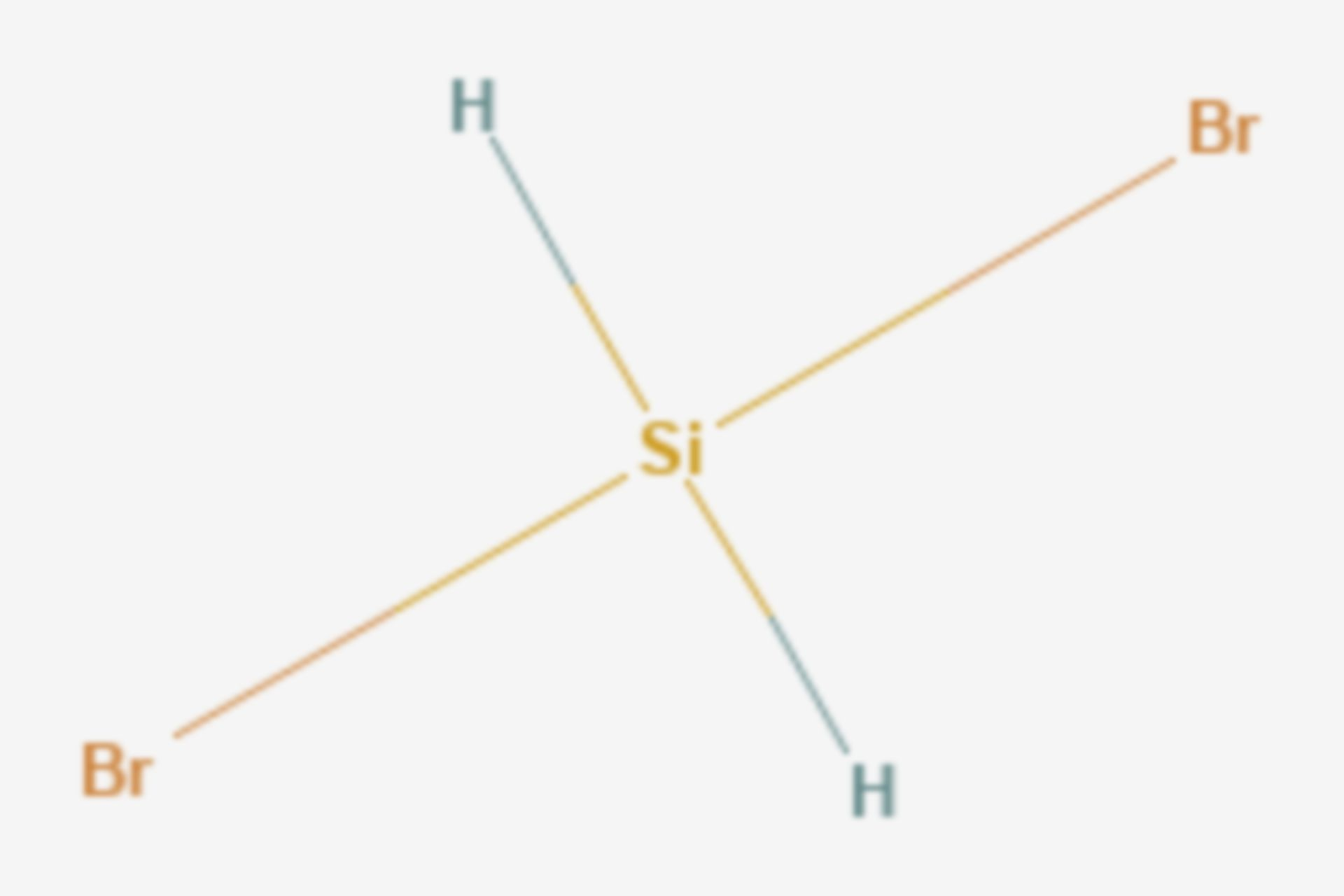 Dibromsilan (Strukturformel)