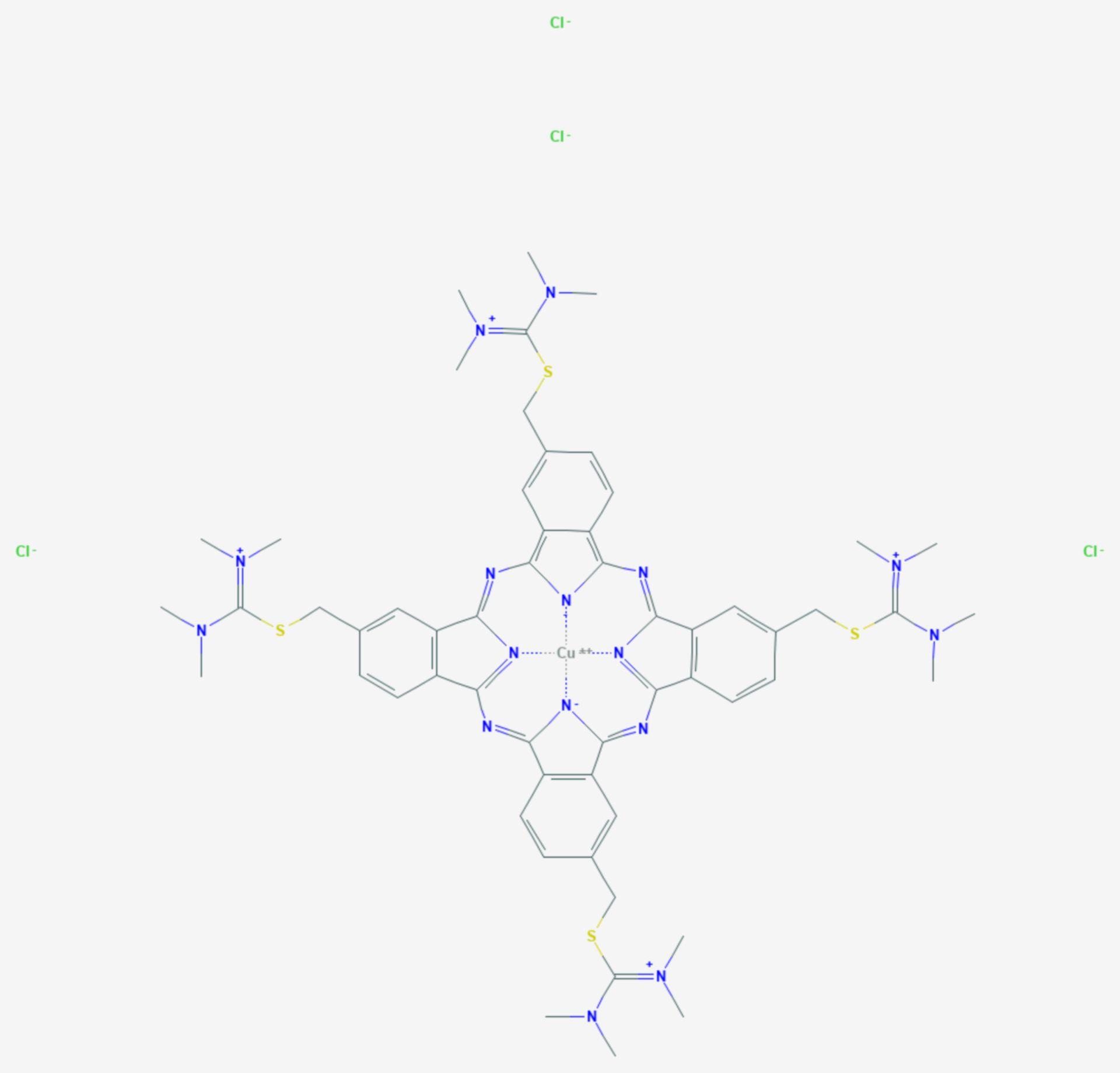 Alcianblau (Strukturformel)