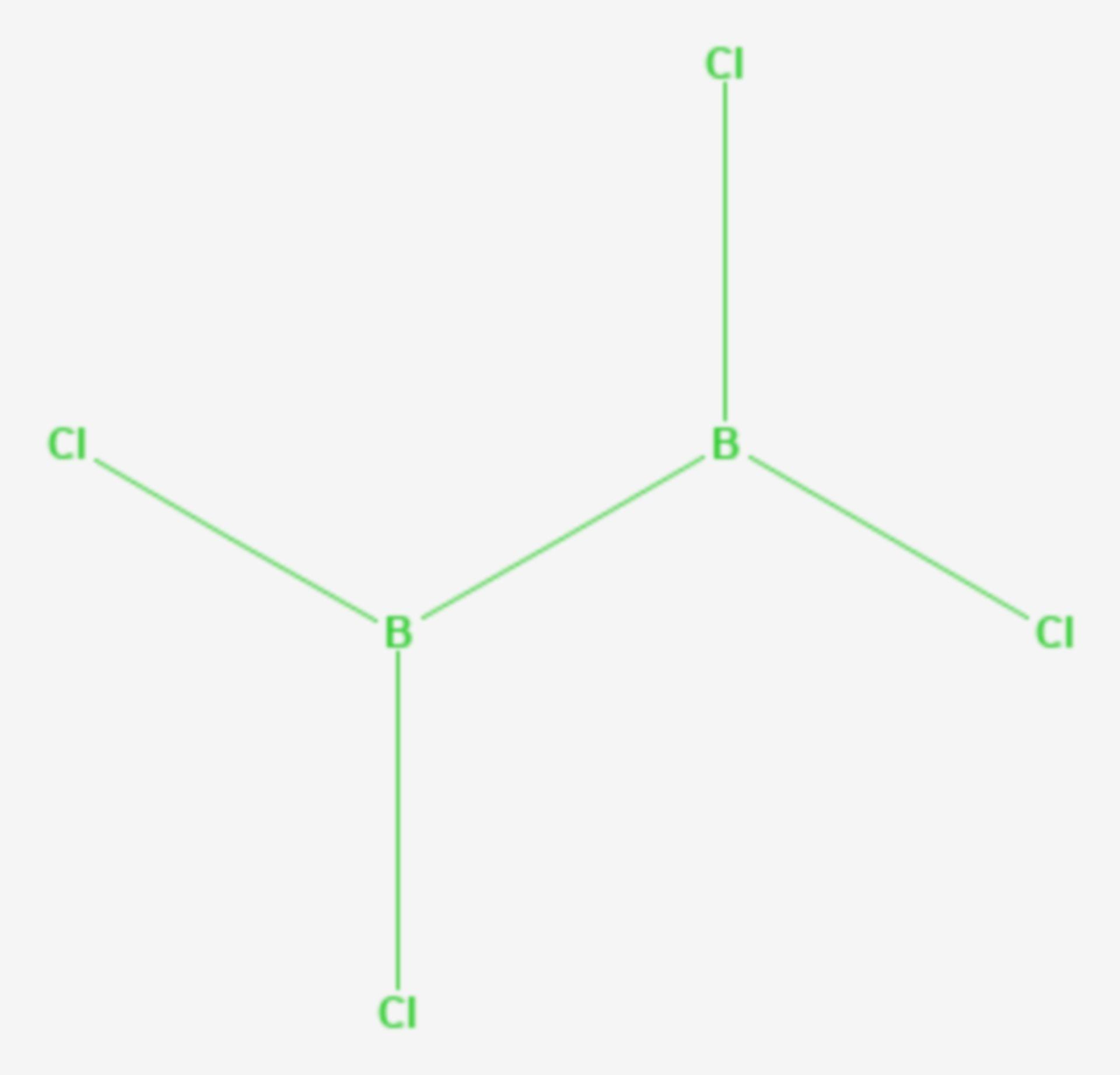 Dibortetrachlorid (Strukturformel)