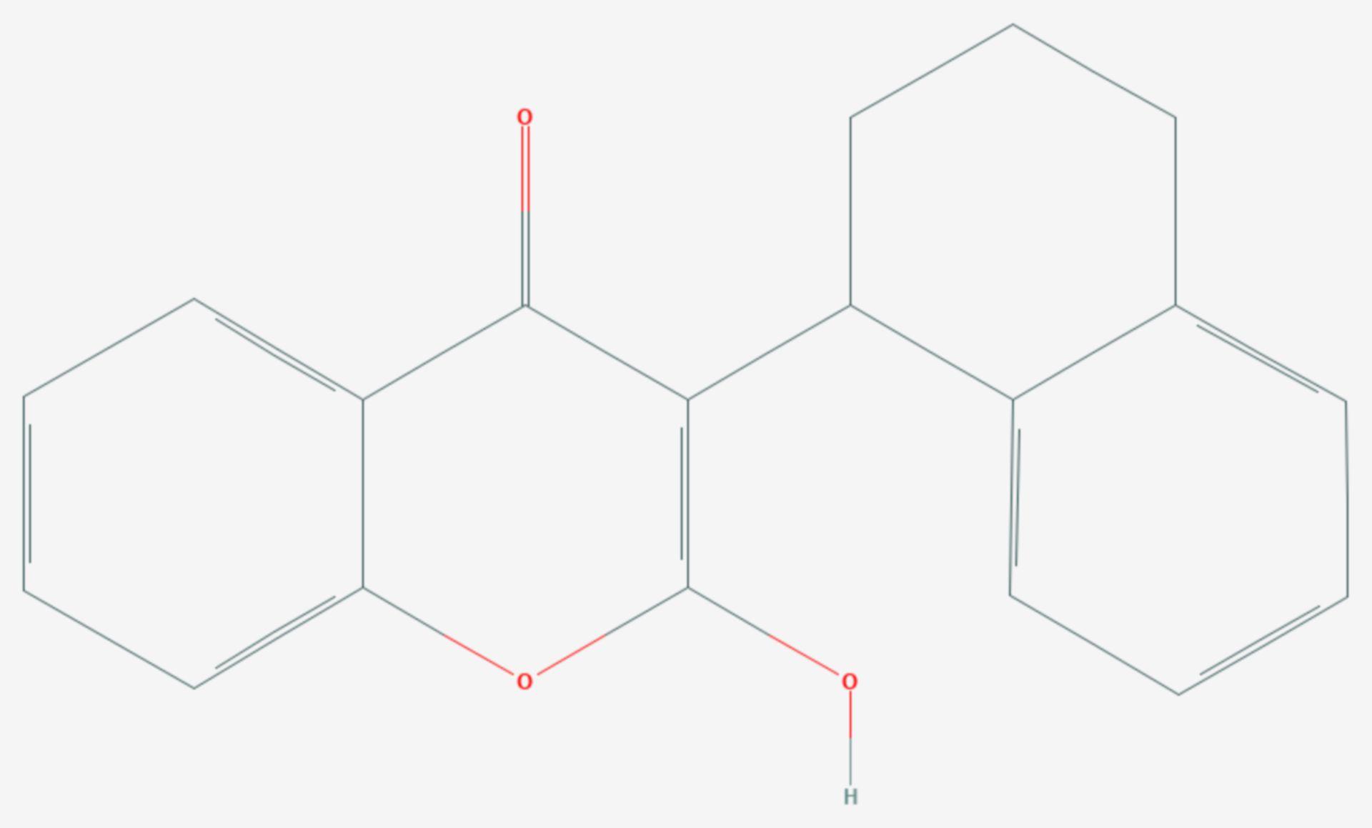 Coumatetralyl (Strukturformel)