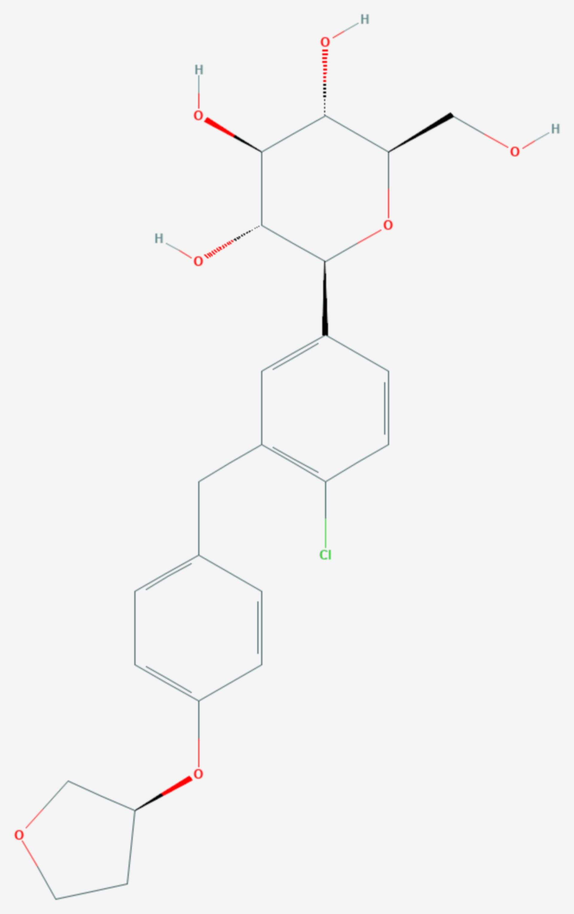 Empagliflozin (Strukturformel)