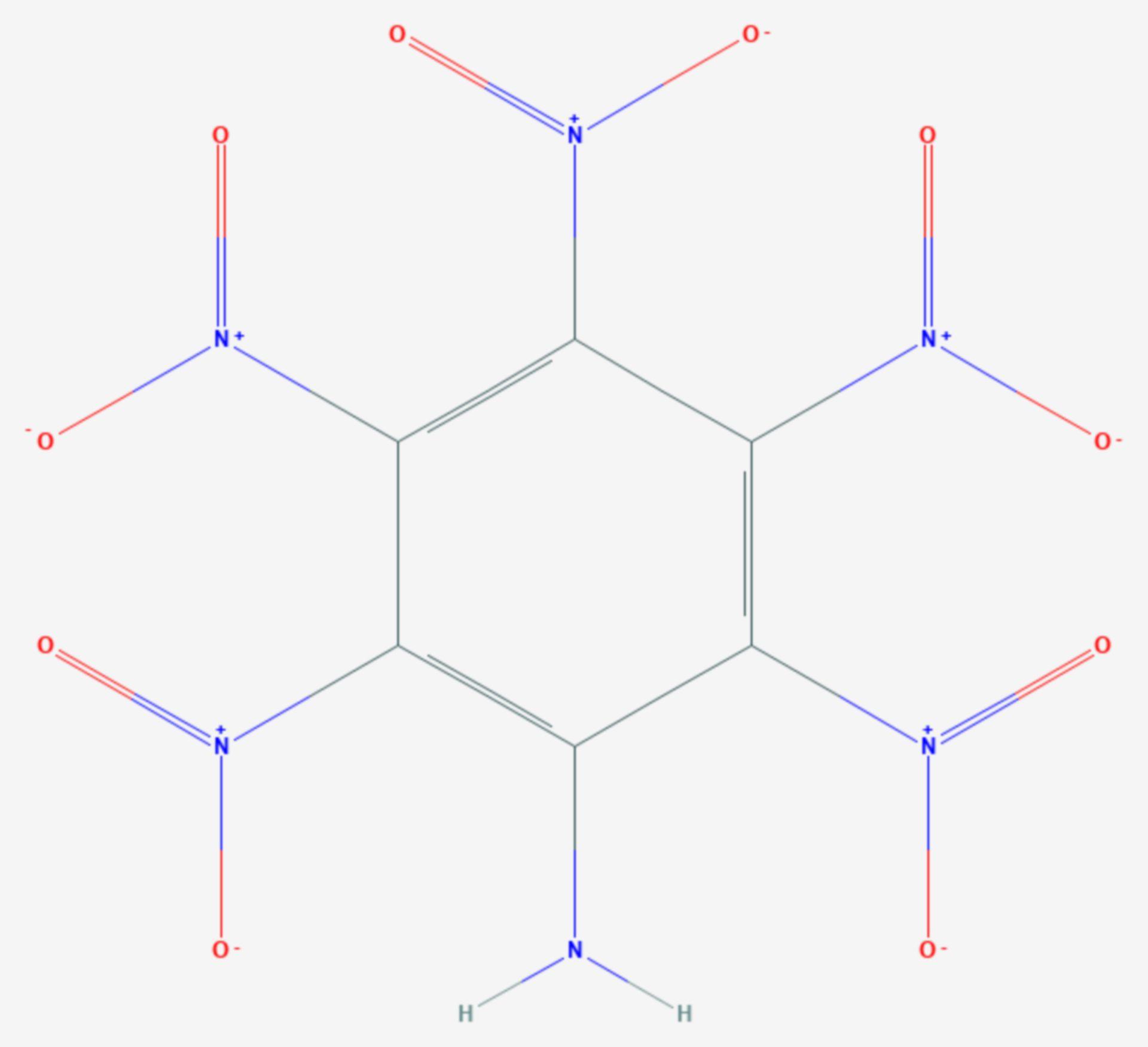 Pentanitroanilin (Strukturformel)