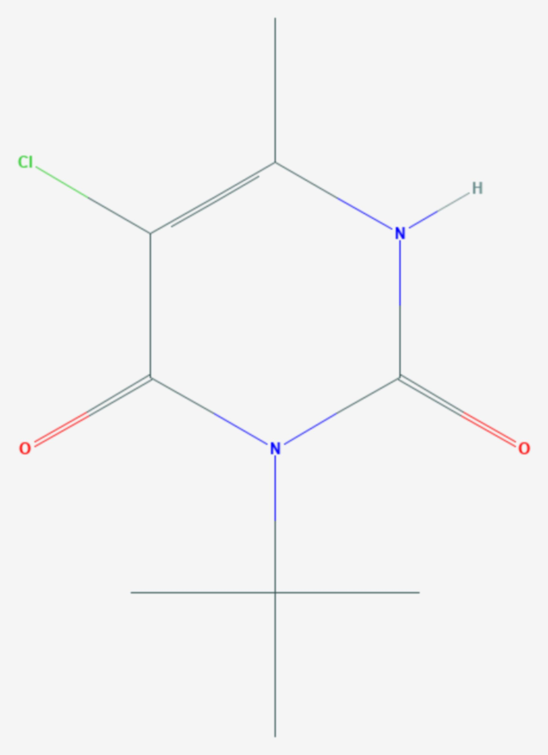 Terbacil (Strukturformel)