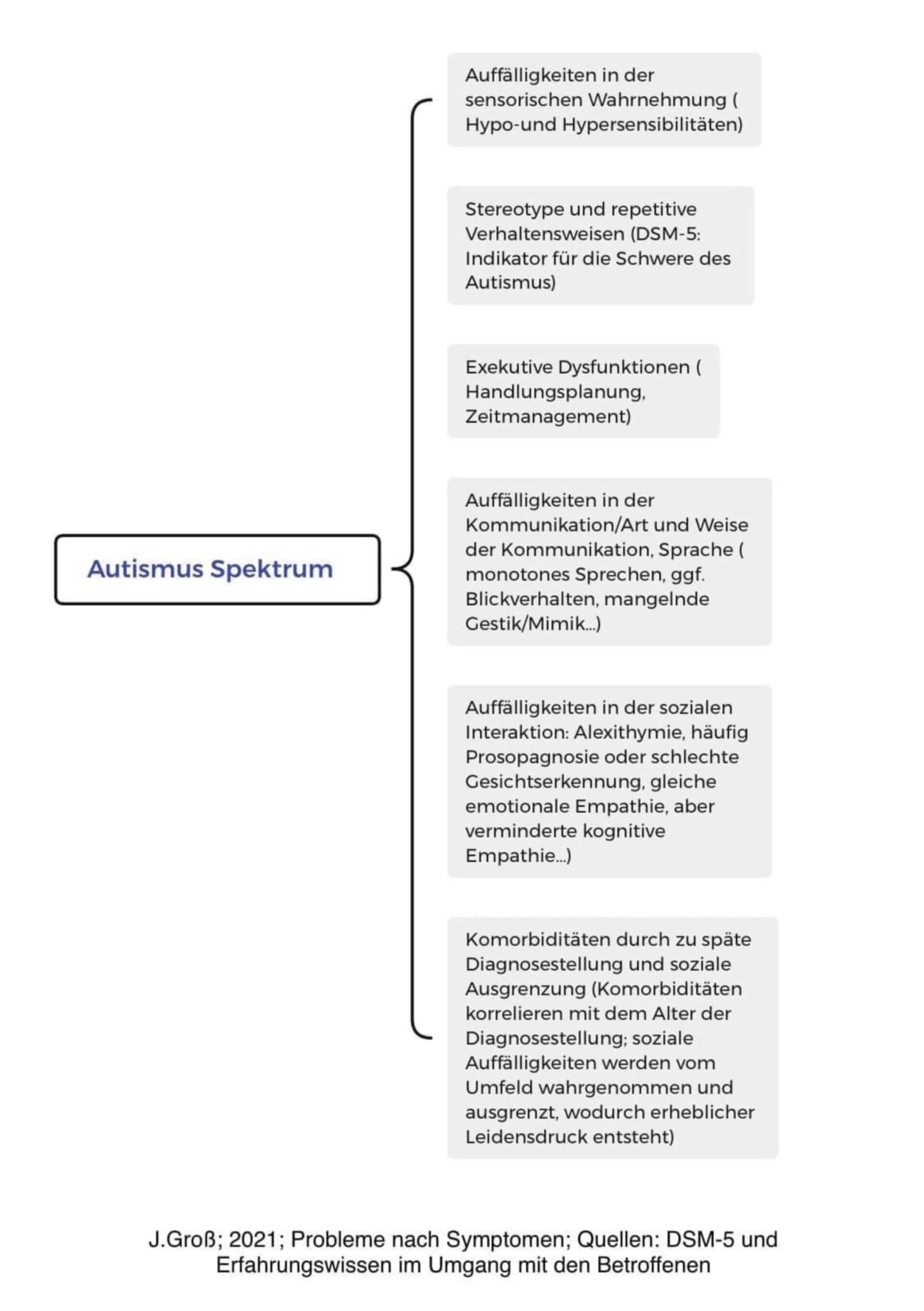 Autismus-Spektrum-Störung Kernmerkmerkmale