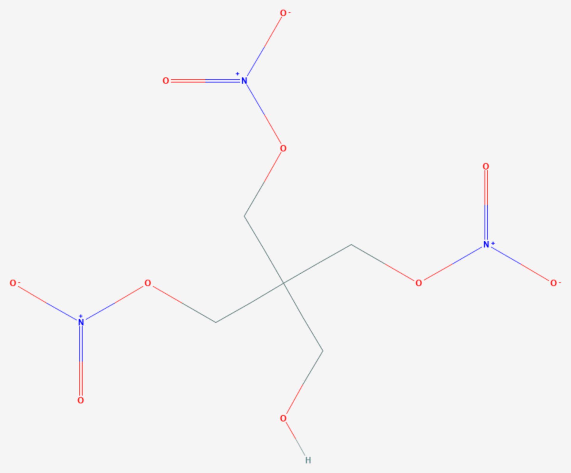 Pentaerythrittrinitrat (Strukturformel)