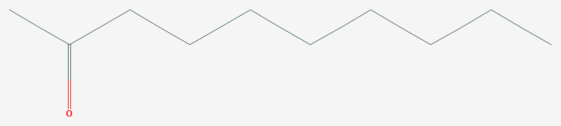 2-Decanon (Strukturformel)