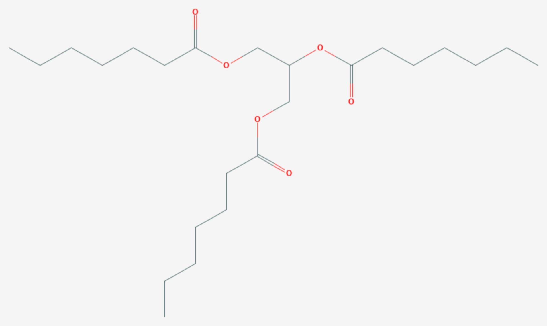 Glycerintriheptanoat (Strukturformel)