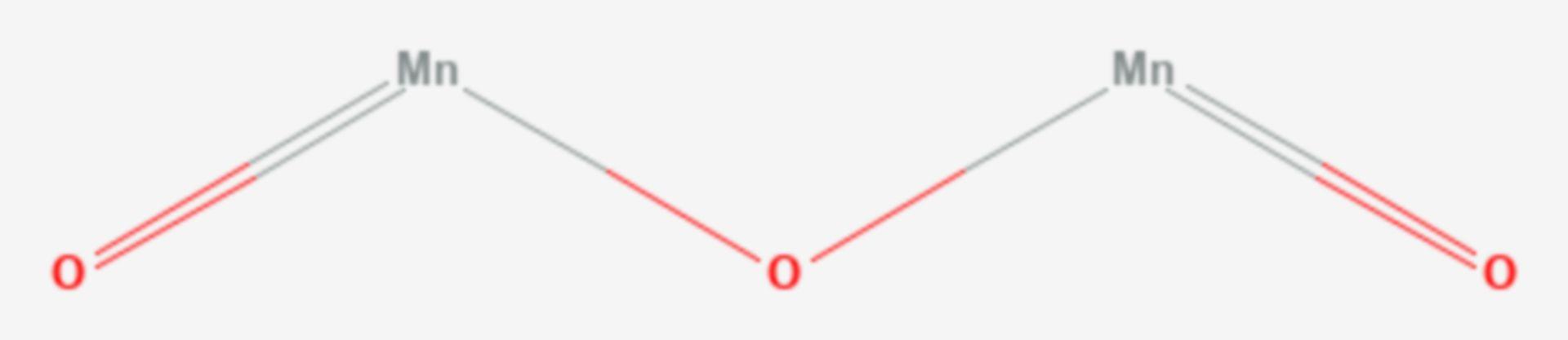 Mangan(III)-oxid (Strukturformel)