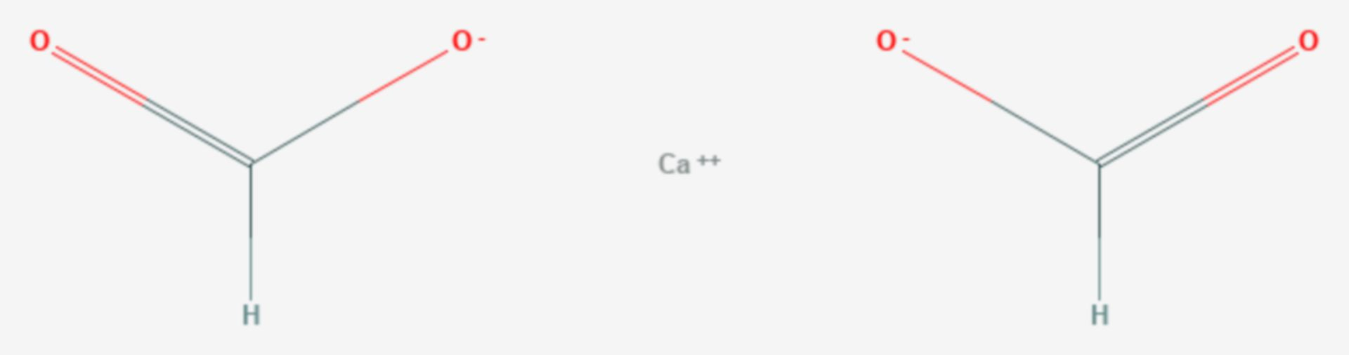 Calciumformiat (Strukturformel)