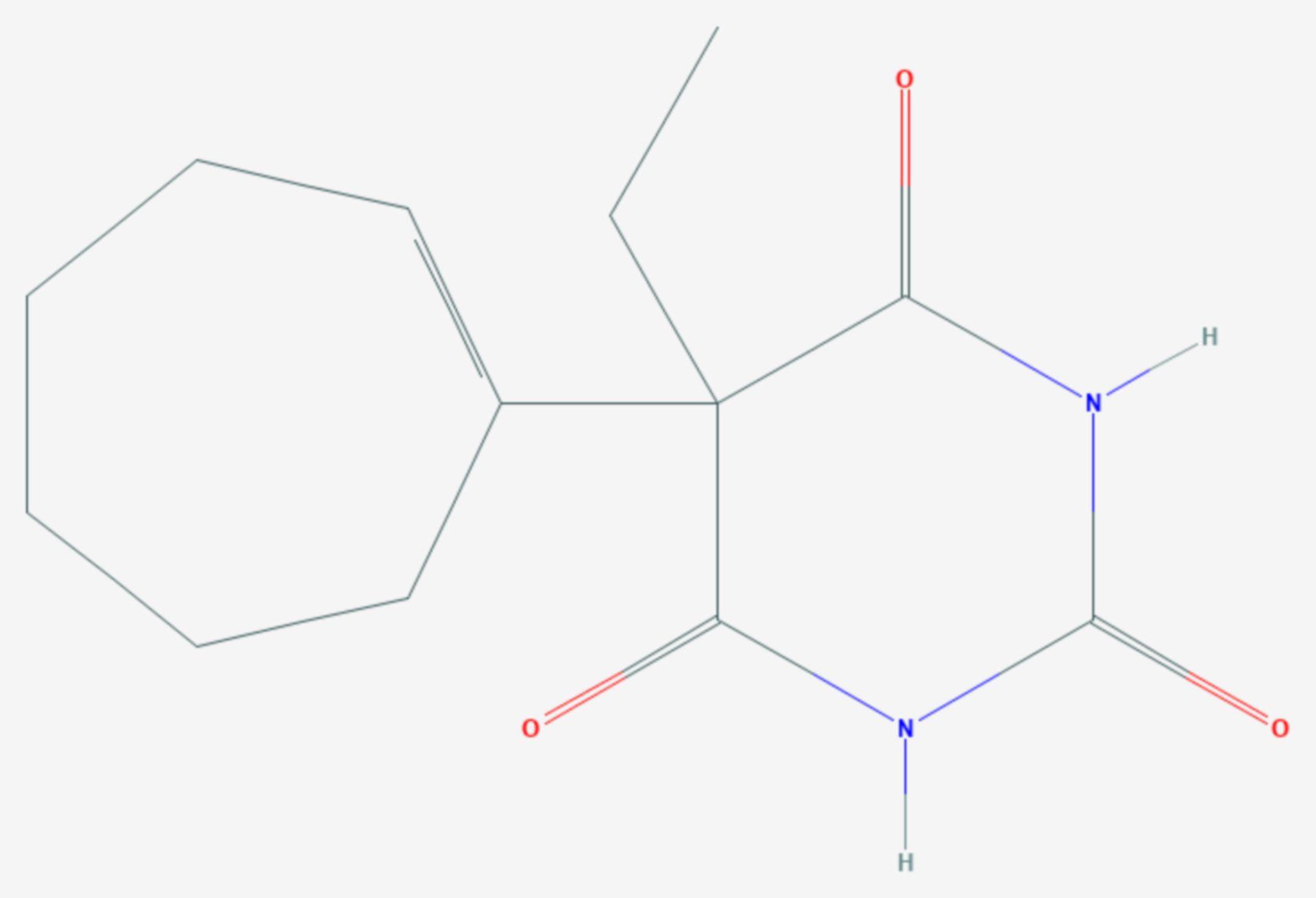 Heptabarbital (Strukturformel)