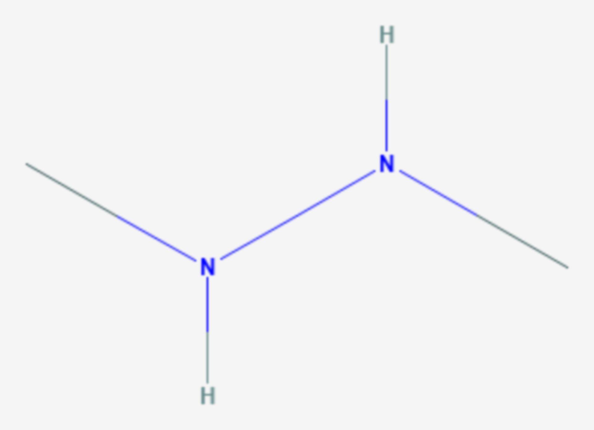 1,2-Dimethylhydrazin (Strukturformel)