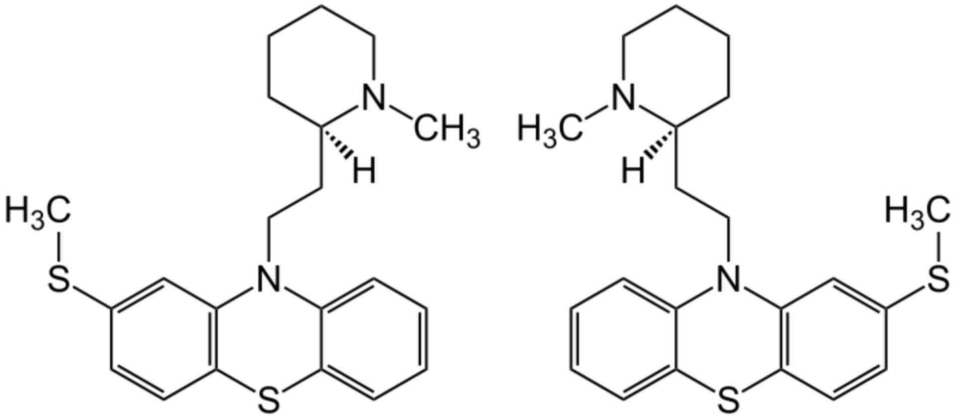 Thioridazin Strukturformel