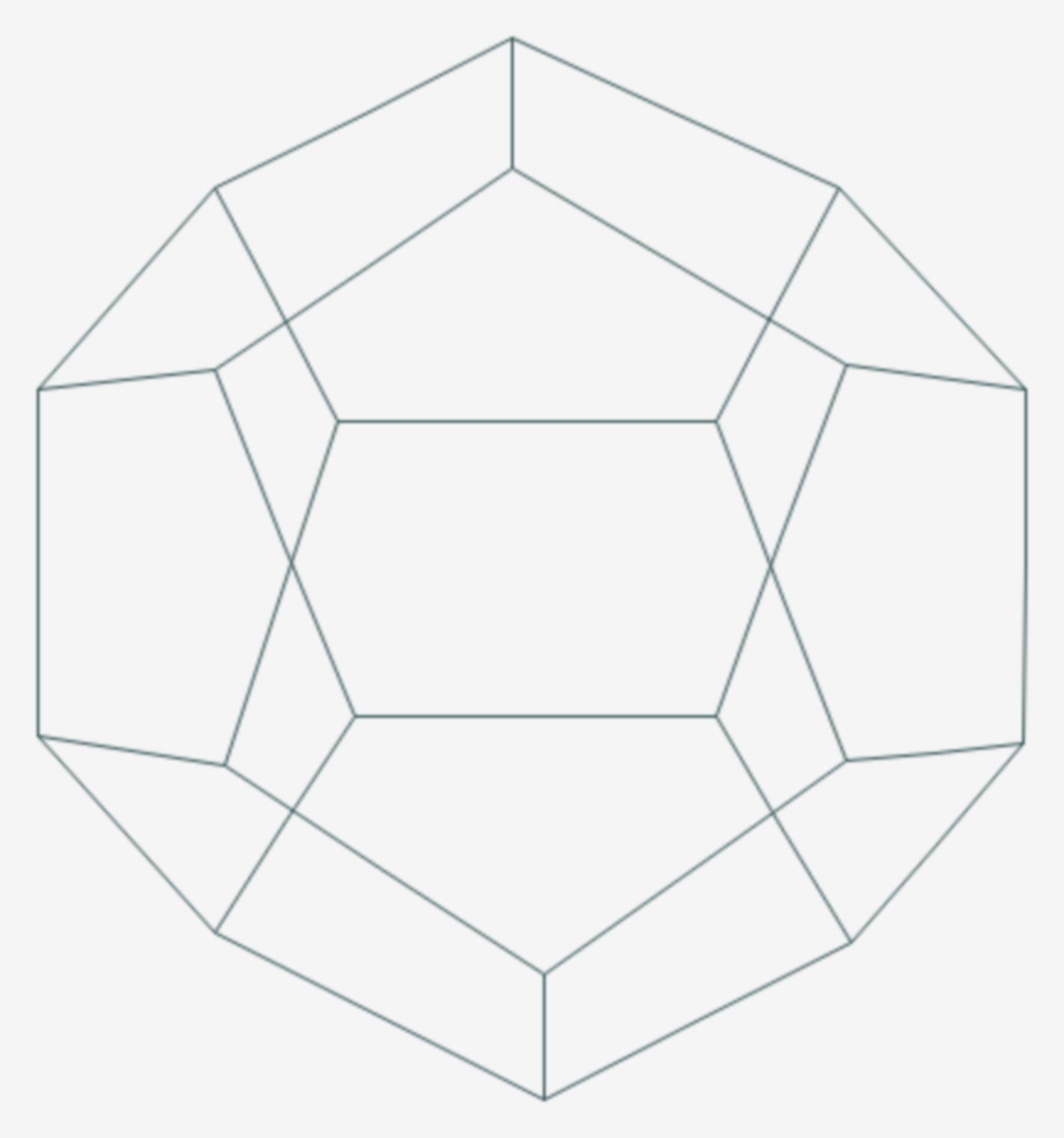 Dodecahedran (Strukturformel)